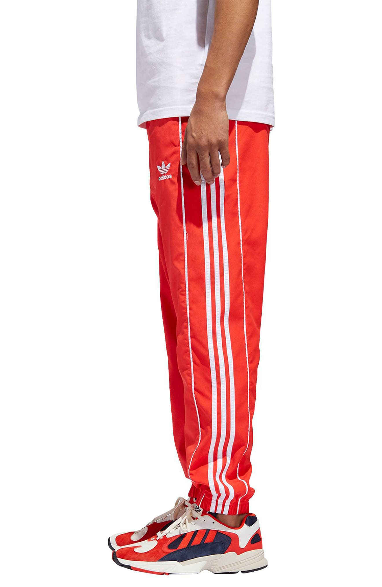 Authentics Ripstop Track Pants,                             Alternate thumbnail 3, color,                             HI-RES RED/ WHITE