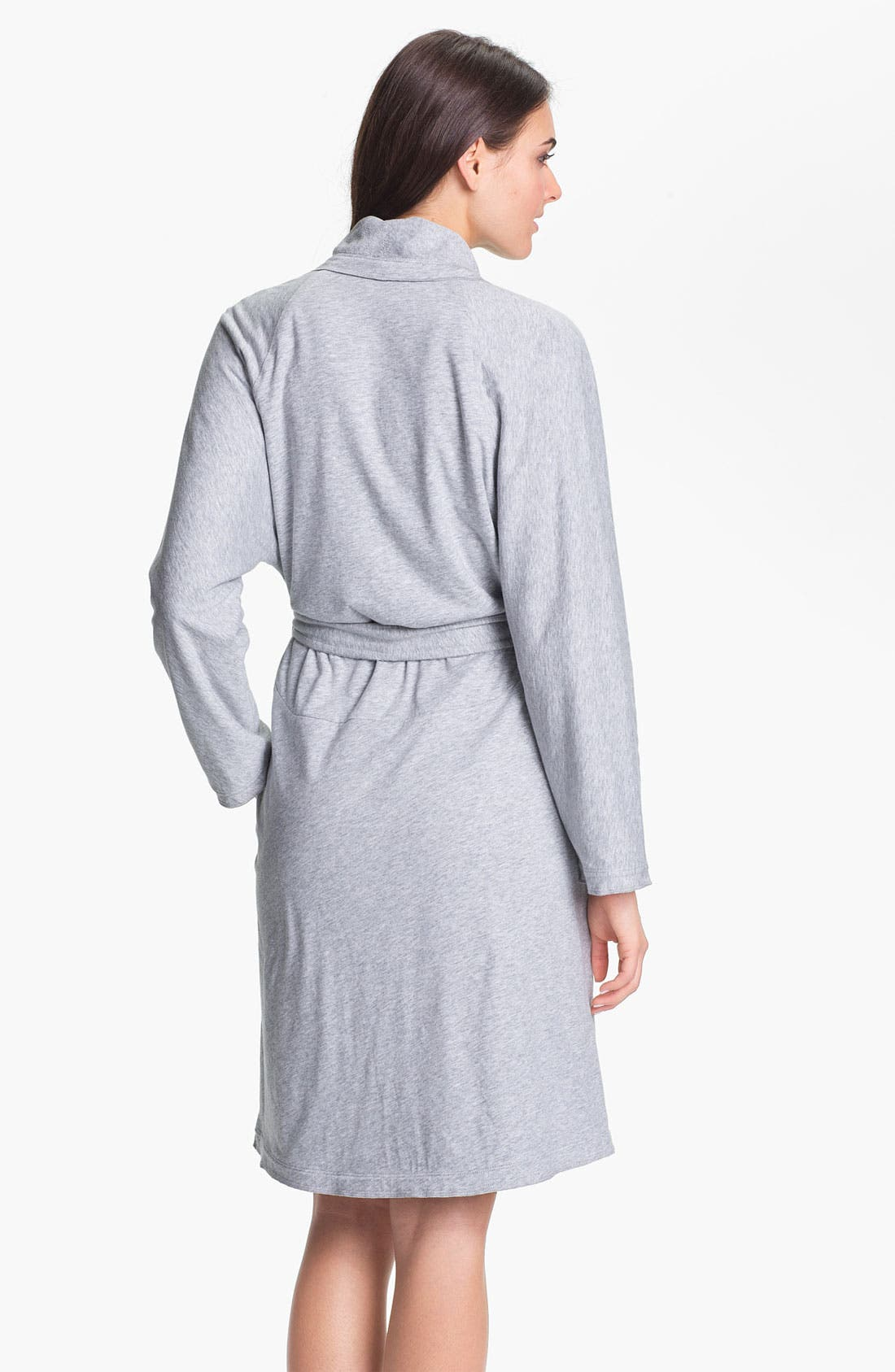 Donna Karan 'Casual Luxe' Robe,                             Alternate thumbnail 2, color,                             060