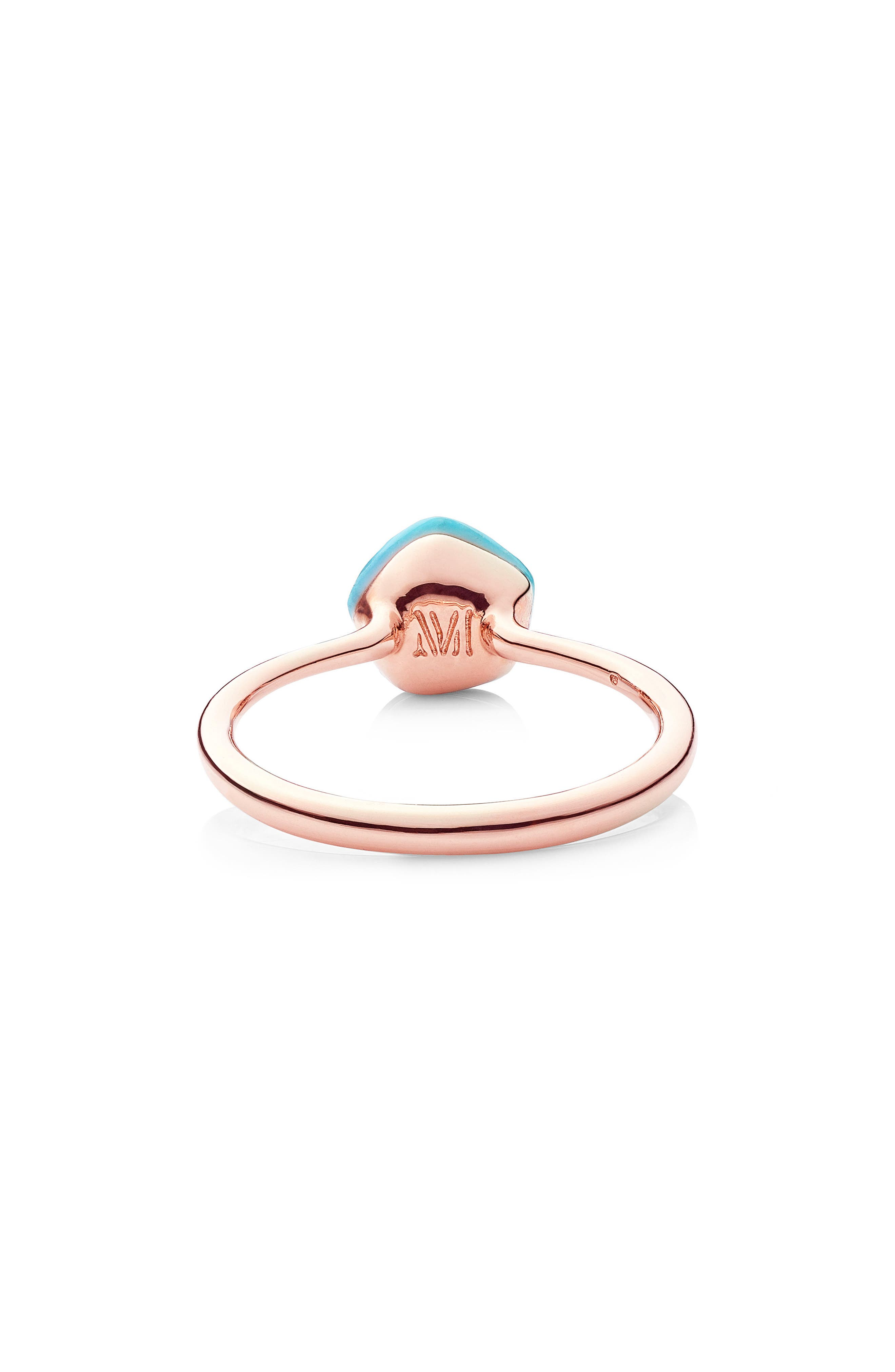 Nura Mini Nugget Stacking Ring,                             Alternate thumbnail 3, color,                             TURQUOISE