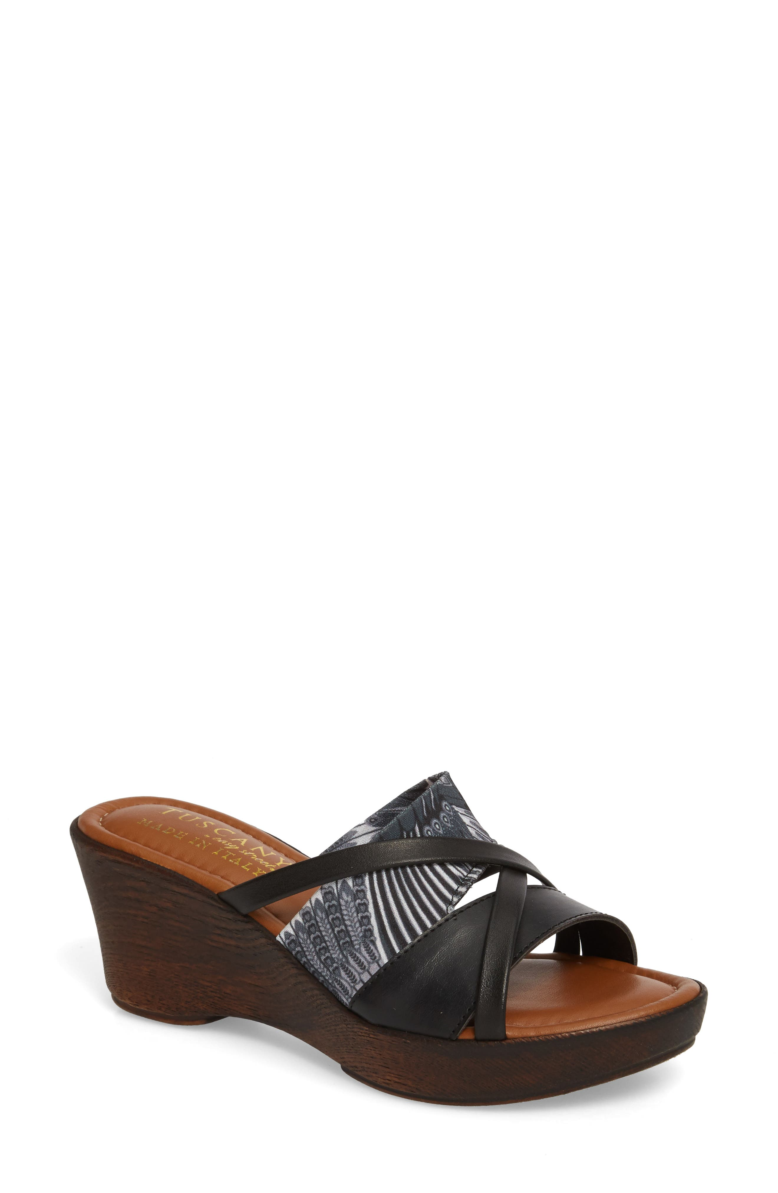 by East Street<sup>®</sup> Lucette Strappy Wedge Mule,                             Main thumbnail 1, color,                             008