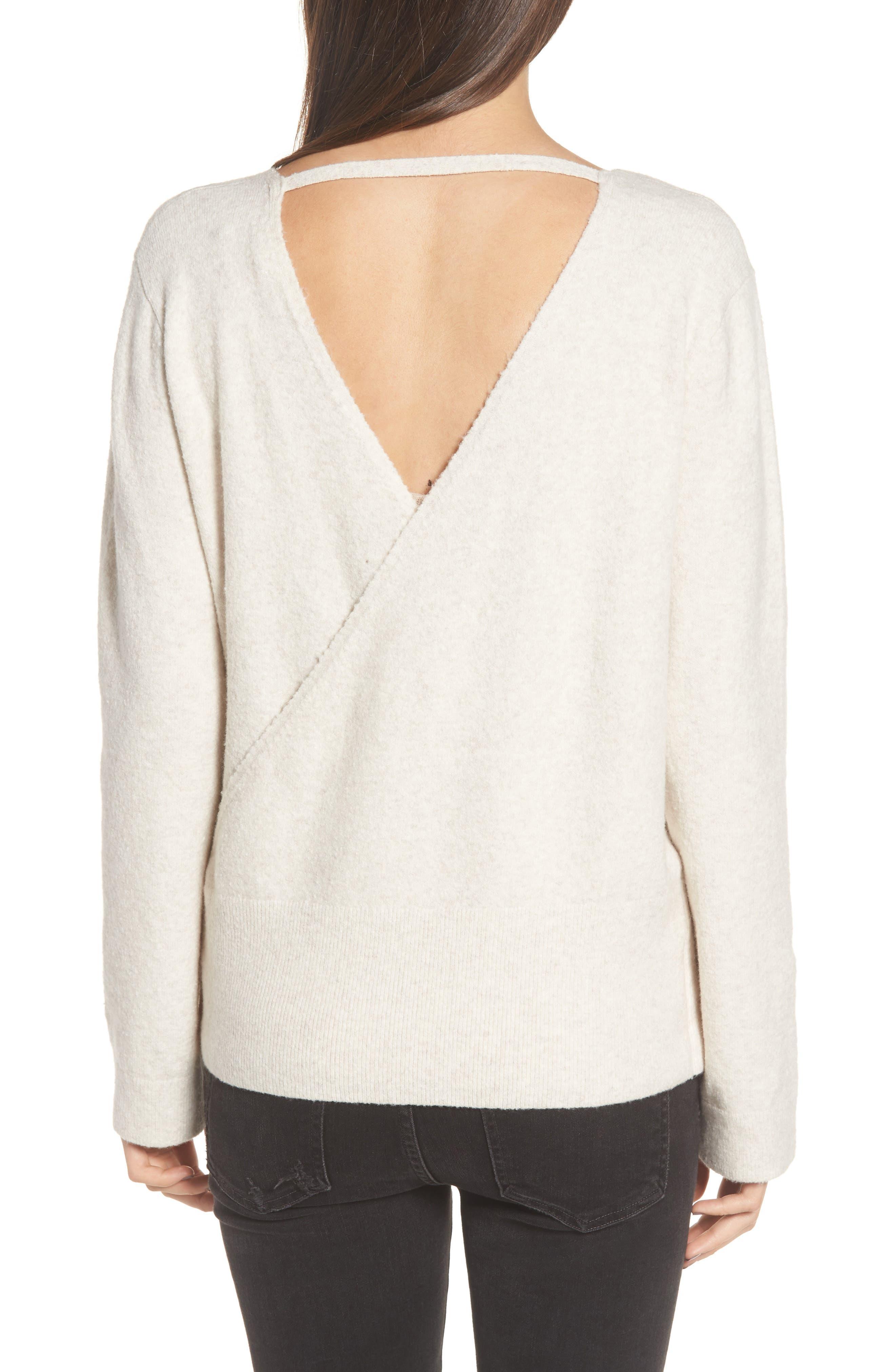 Faux Wrap Sweater,                             Alternate thumbnail 5, color,