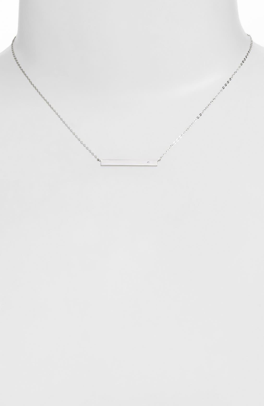 NADRI,                             'Goldie' Bar Pendant Necklace,                             Main thumbnail 1, color,                             040