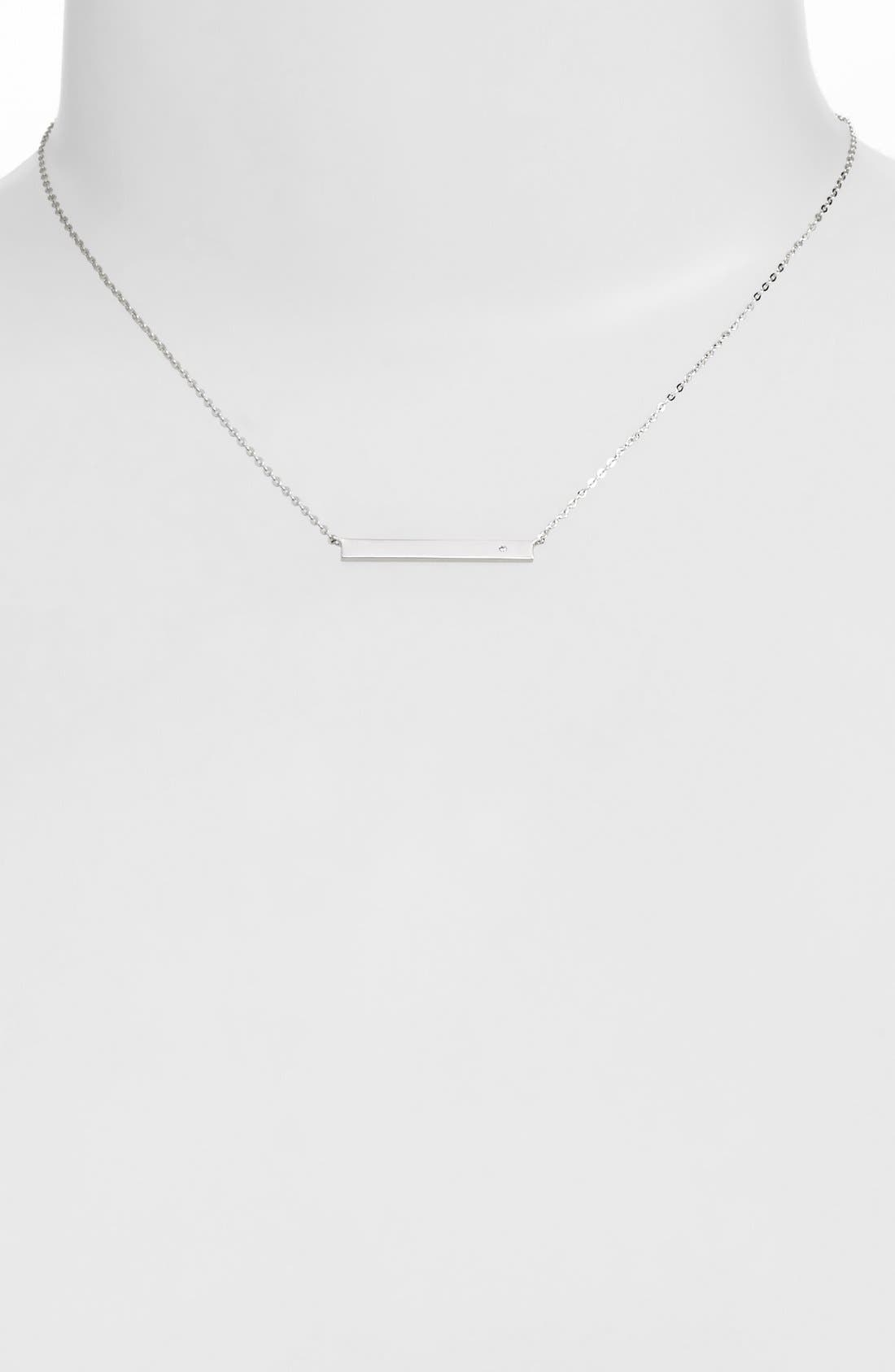 NADRI 'Goldie' Bar Pendant Necklace, Main, color, 040