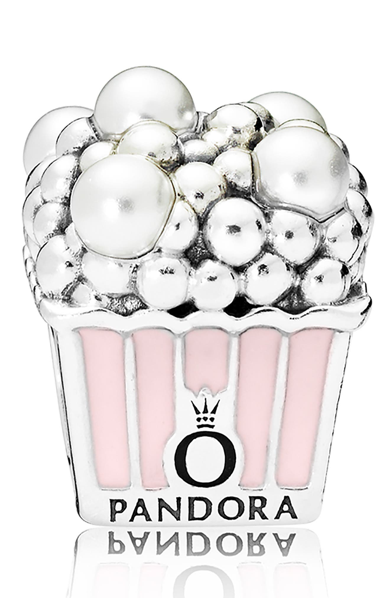 Popcorn Charm,                             Main thumbnail 1, color,                             SILVER