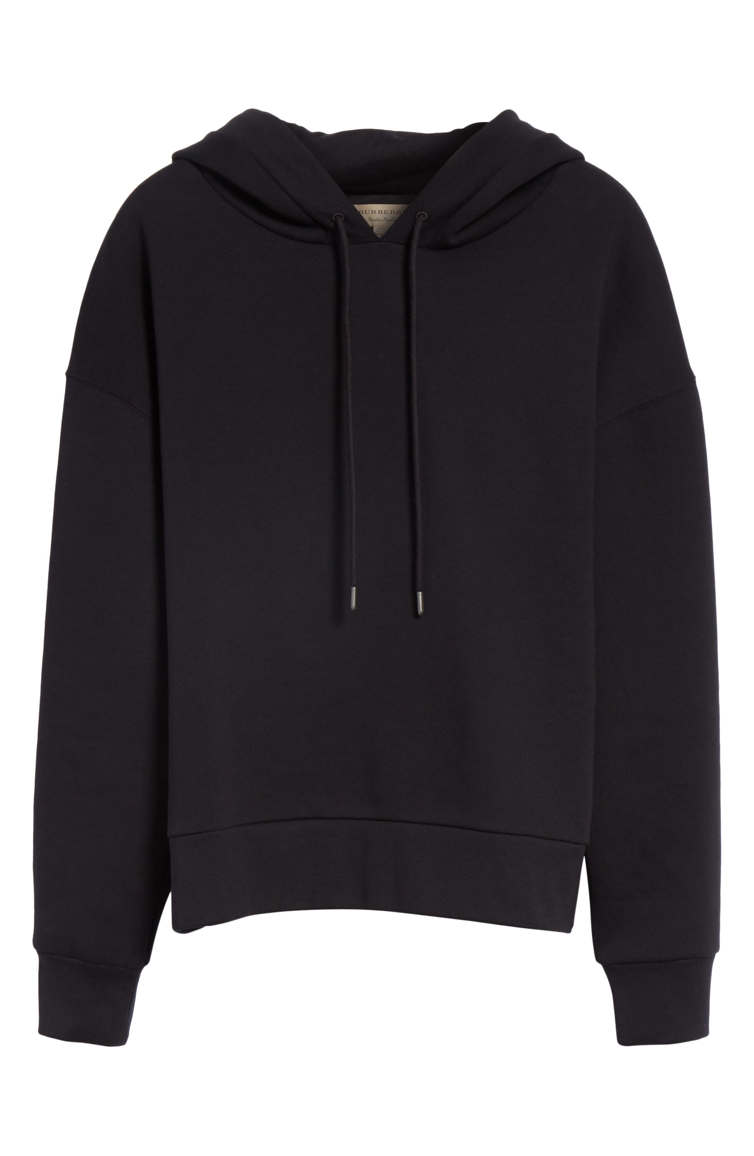 Escara Embroidered Hoodie,                             Alternate thumbnail 6, color,                             001
