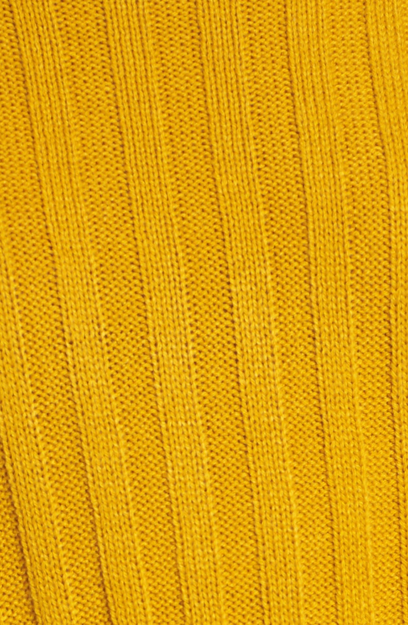 Wide Rib Mock Neck Sweater,                             Alternate thumbnail 5, color,                             315