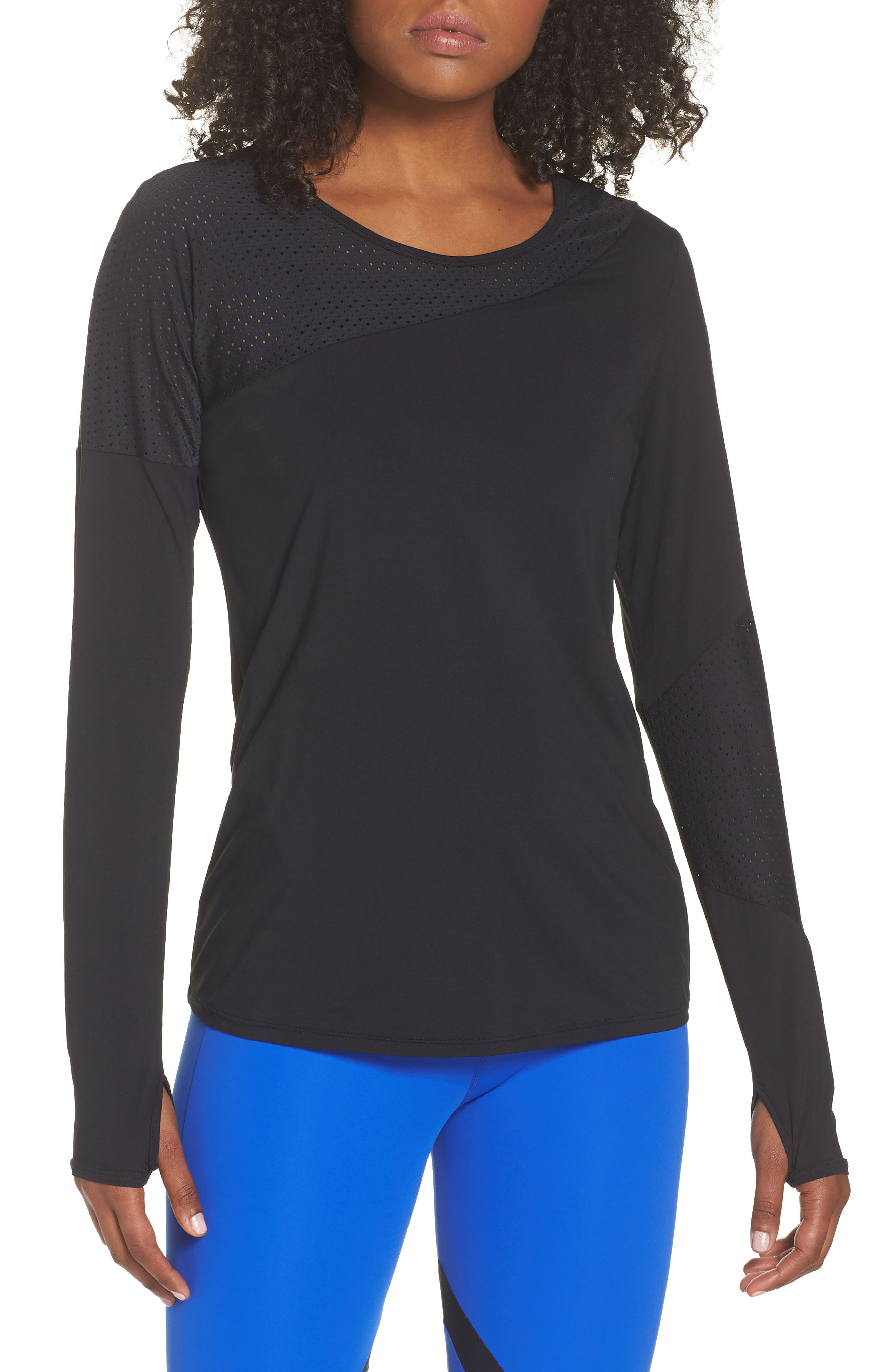 BoomBoom Athletica Easy Tunic,                             Main thumbnail 1, color,                             BLACK