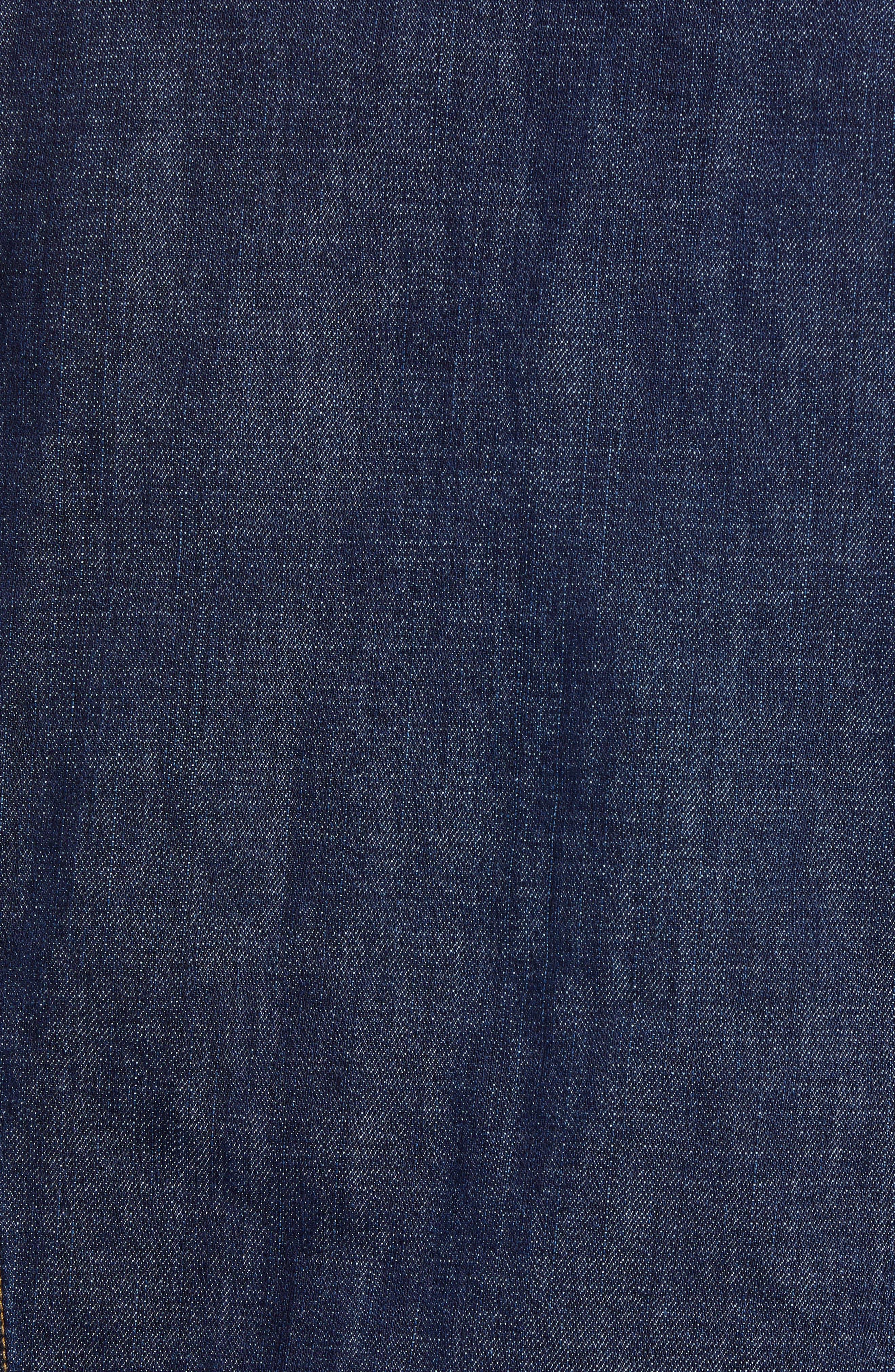 WRANGLER,                             Heritage Fleece Lined Denim Jacket,                             Alternate thumbnail 7, color,                             DARK