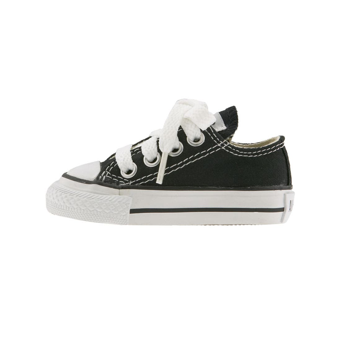 CONVERSE,                             Chuck Taylor<sup>®</sup> Low Top Sneaker,                             Alternate thumbnail 5, color,                             BLACK