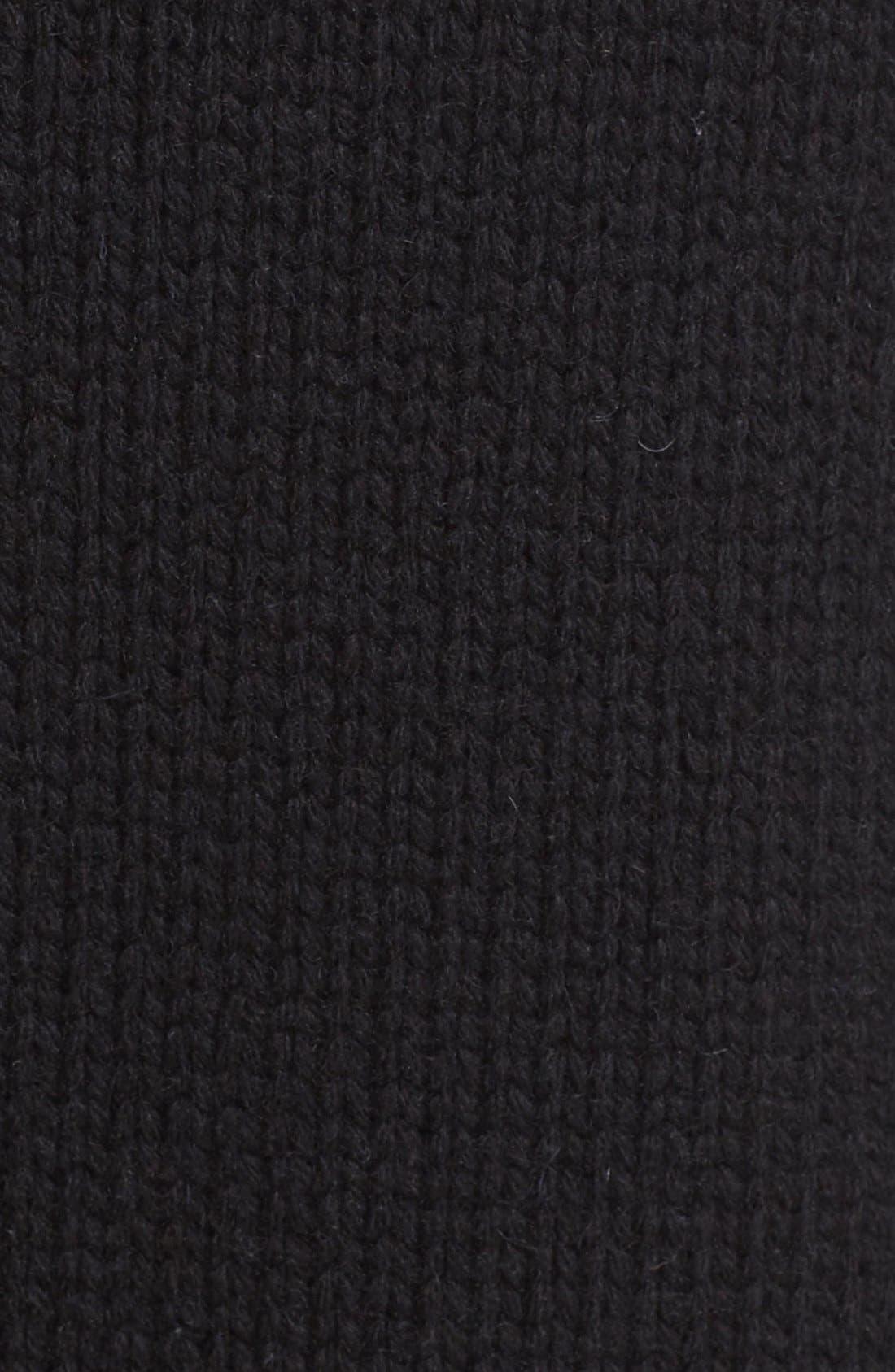 VINCE,                             Wool & Yak Robe Cardigan,                             Alternate thumbnail 4, color,                             001