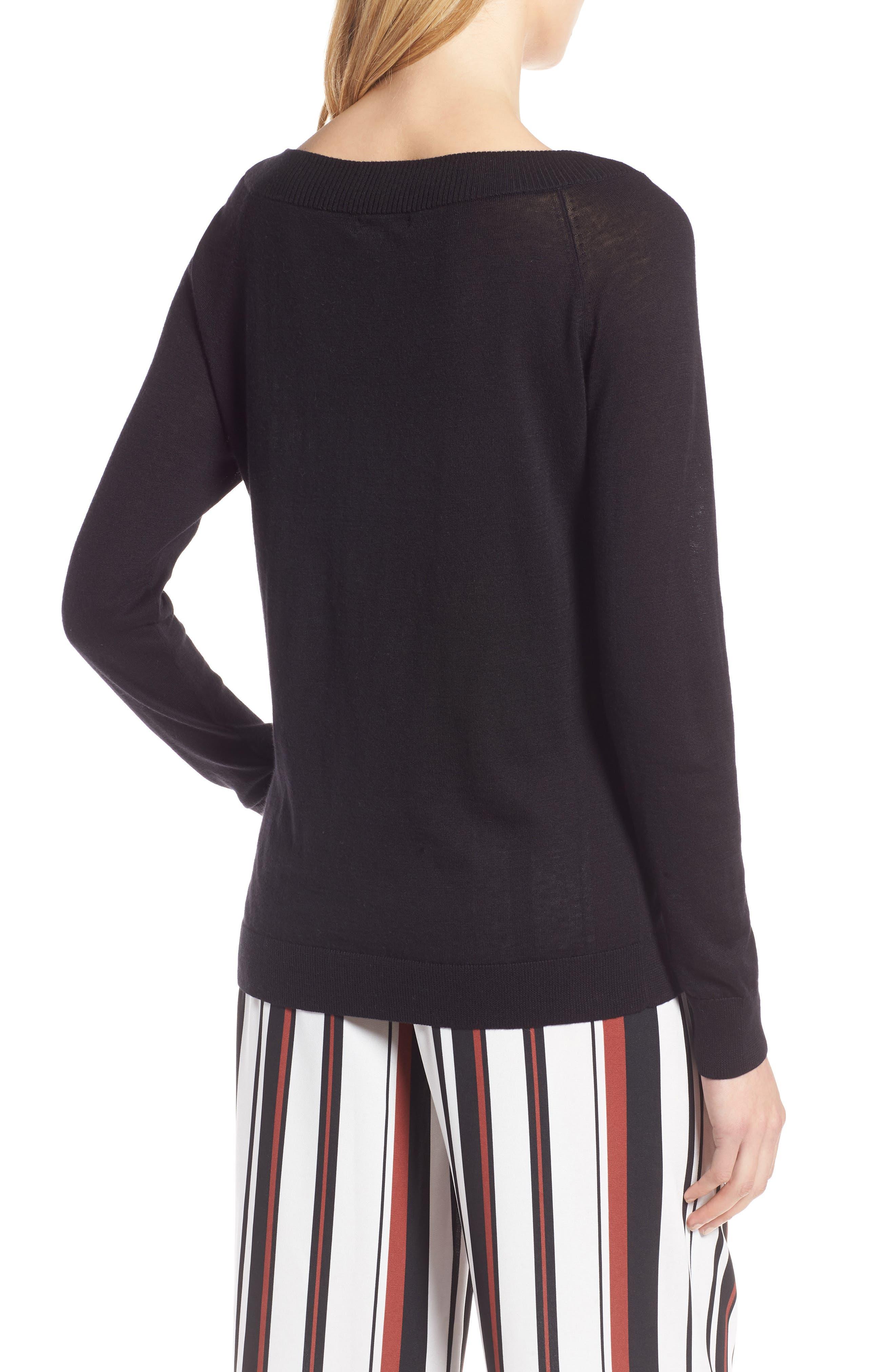 Convertible Bateau Neck Sweater,                             Alternate thumbnail 4, color,