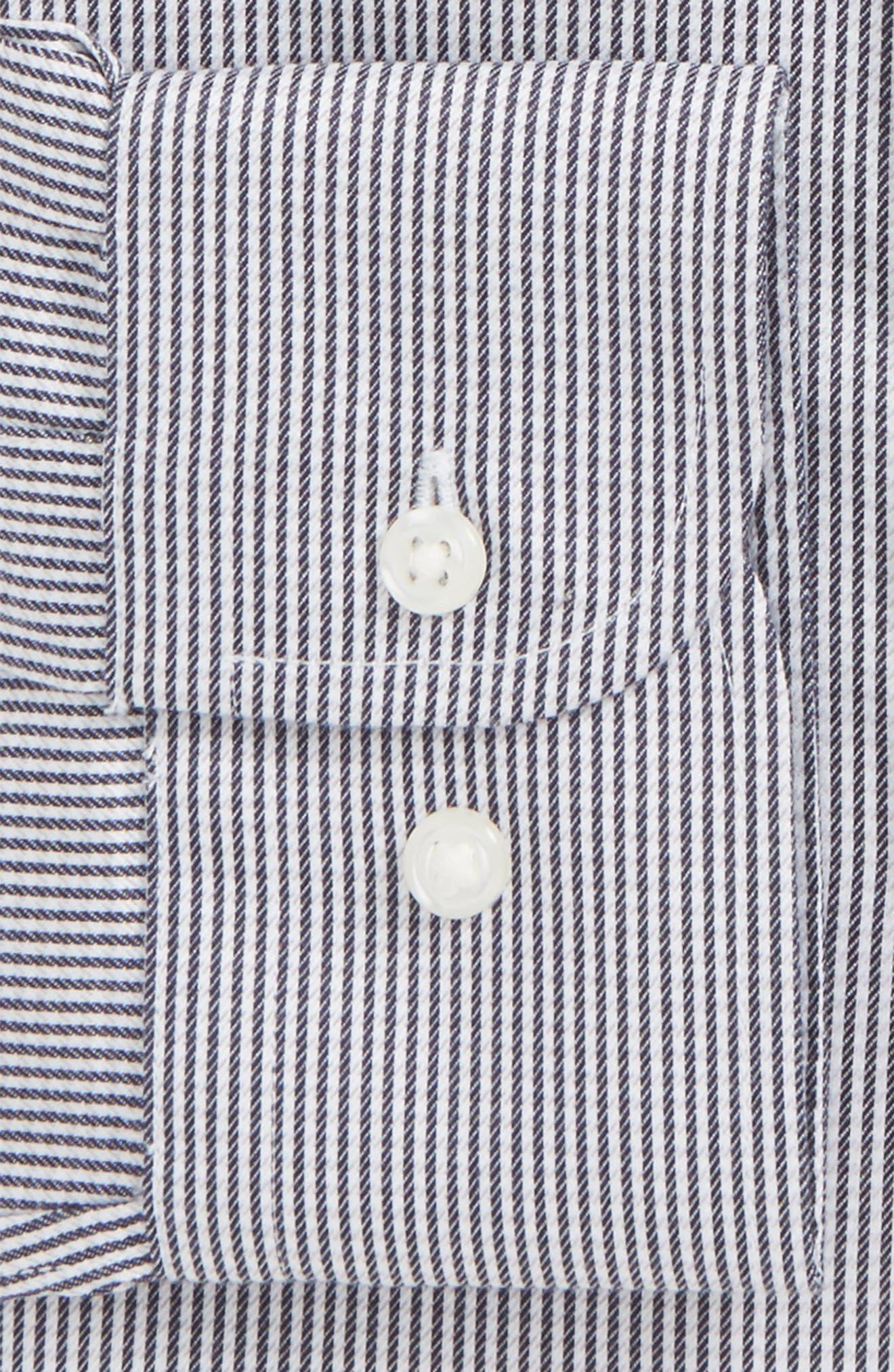 Smartcare<sup>™</sup> Traditional Fit Stripe Dress Shirt,                             Alternate thumbnail 16, color,