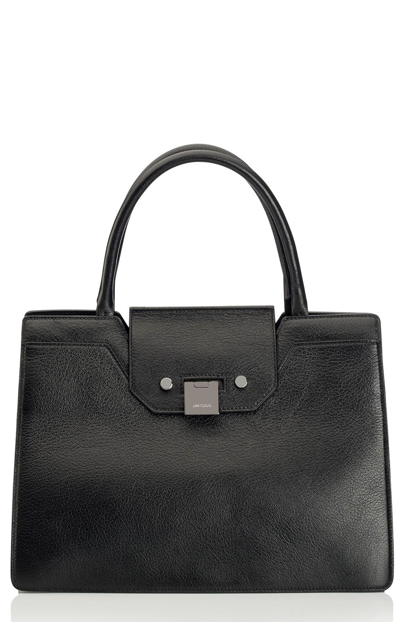 Rebel Leather Tote,                             Main thumbnail 1, color,                             010