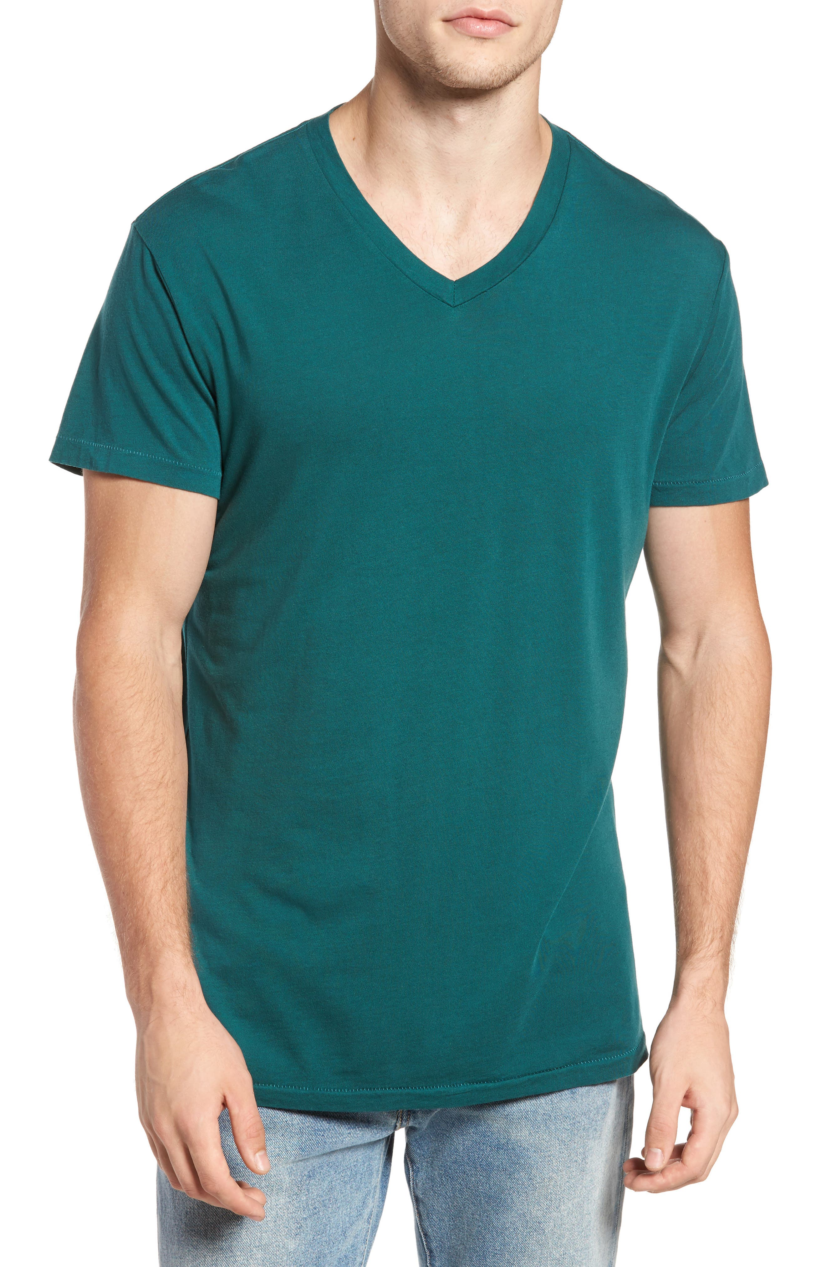 Essential V-Neck T-Shirt,                             Main thumbnail 1, color,                             340