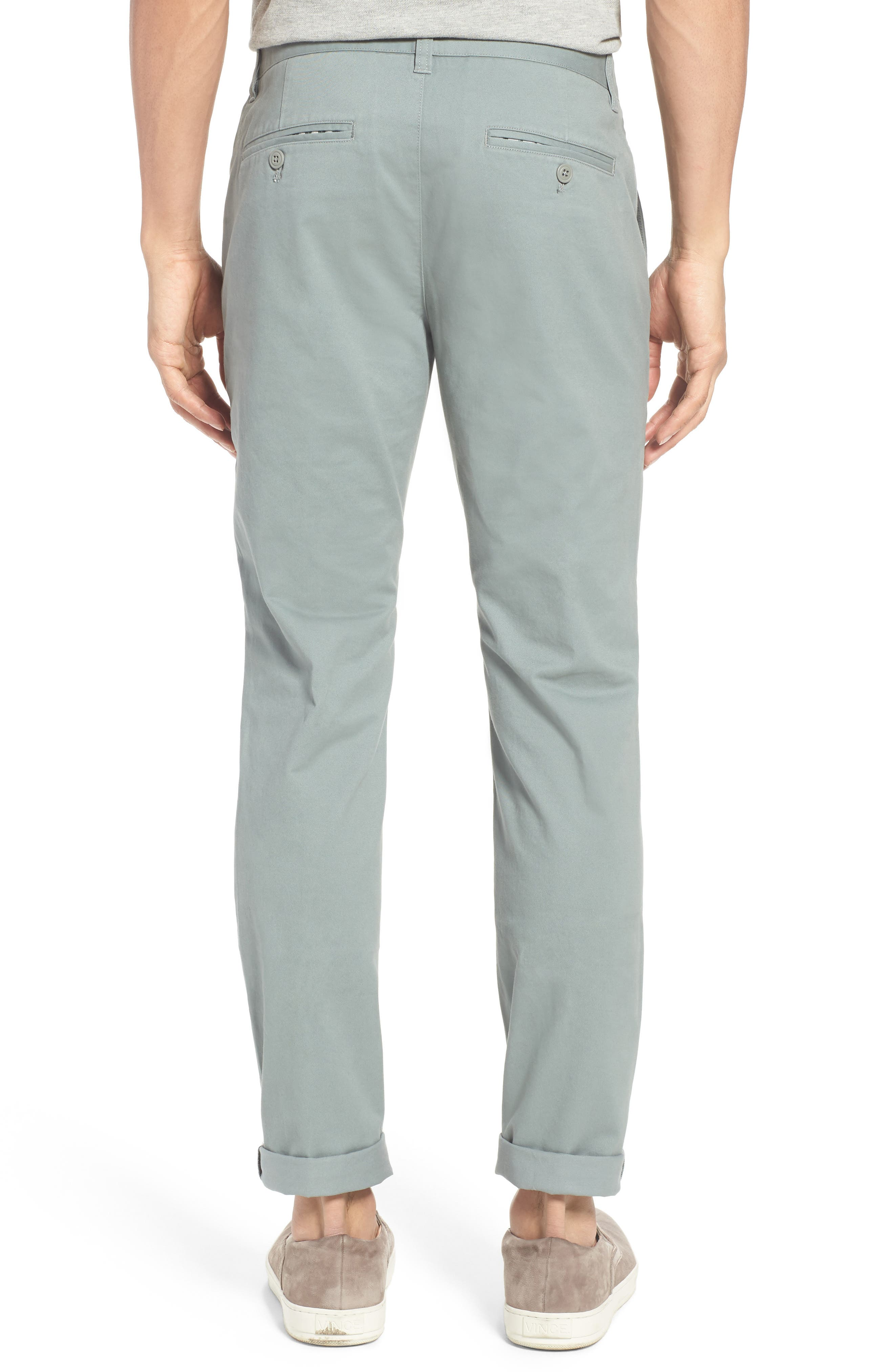Tailored Fit Washed Stretch Cotton Chinos,                             Alternate thumbnail 65, color,