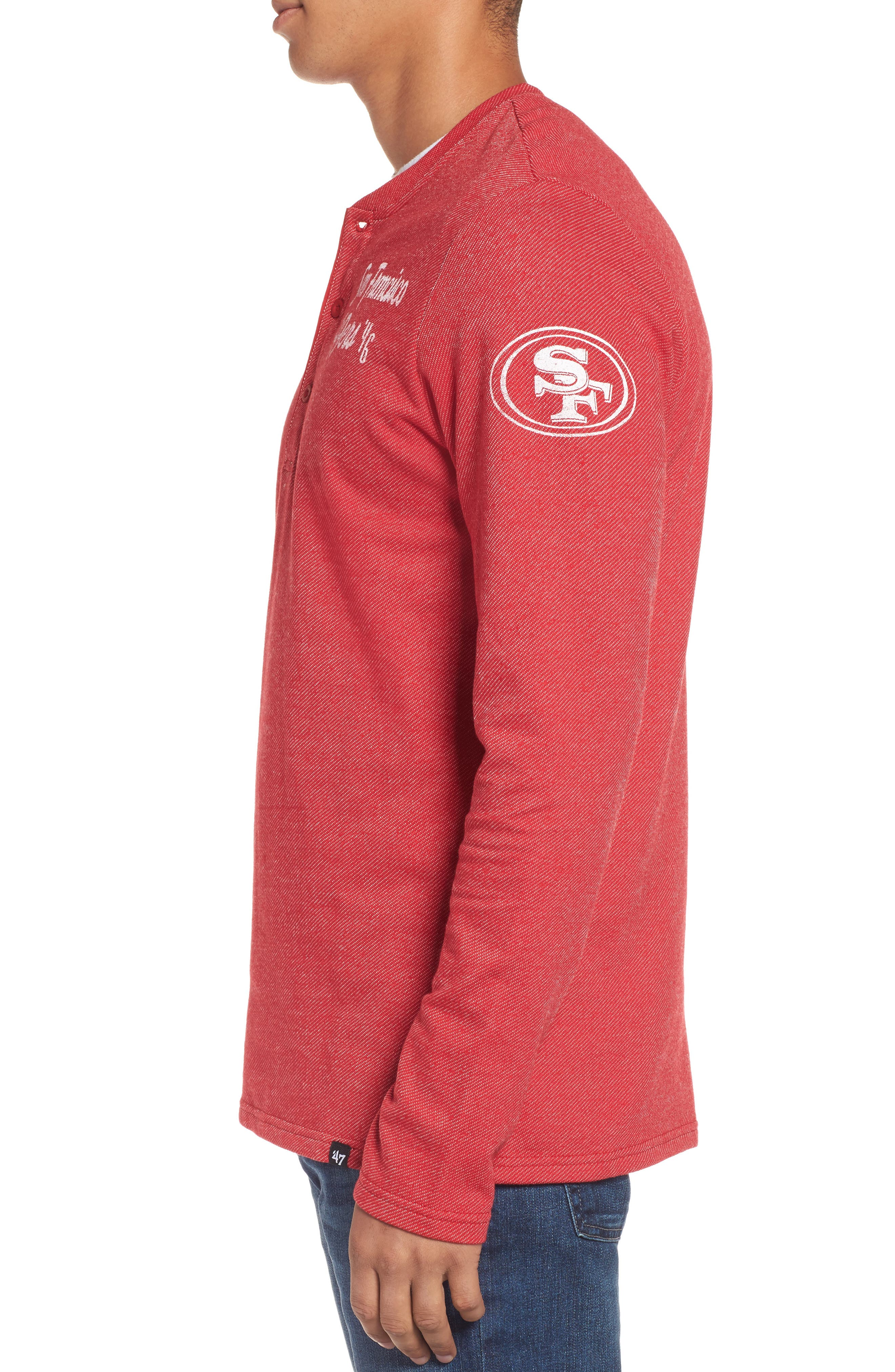San Francesco 49ers Henley,                             Alternate thumbnail 3, color,                             600