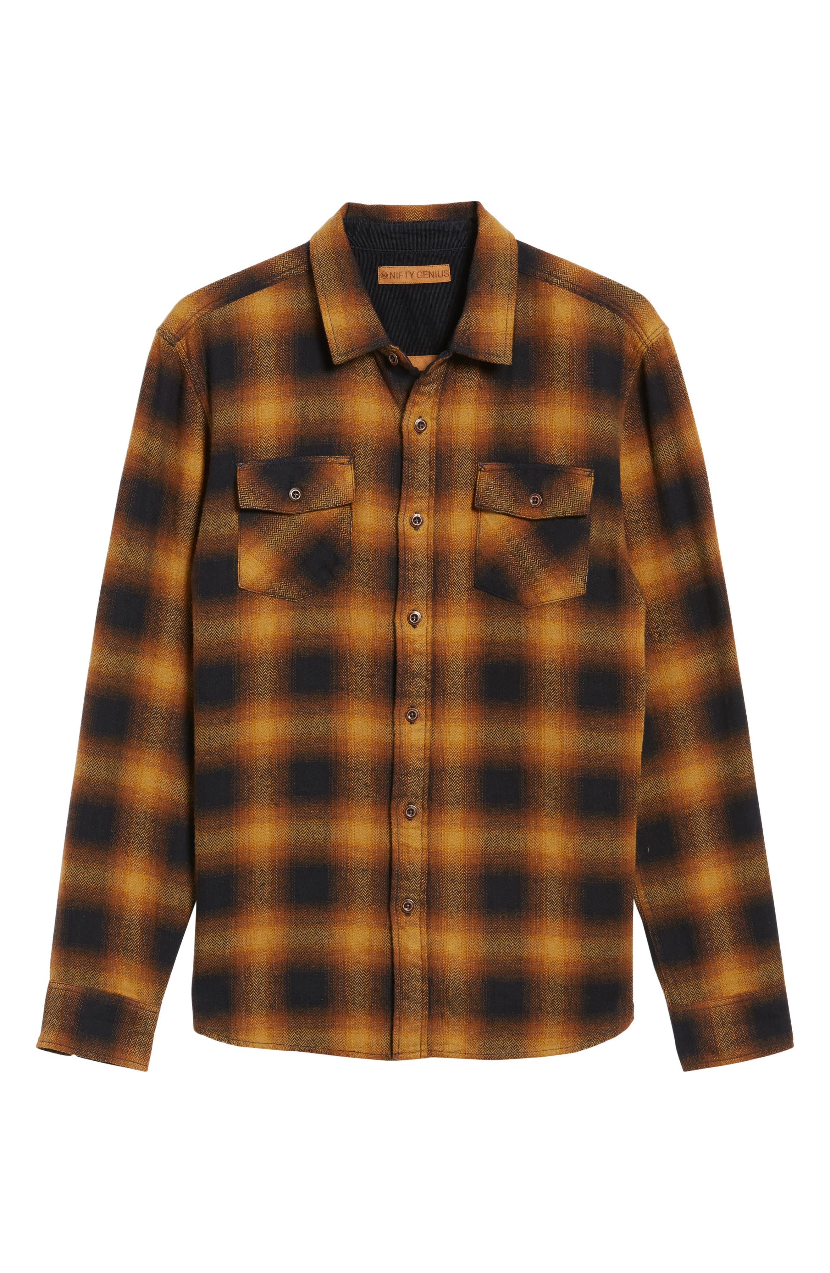 Truman Check Herringbone Shirt,                             Alternate thumbnail 6, color,