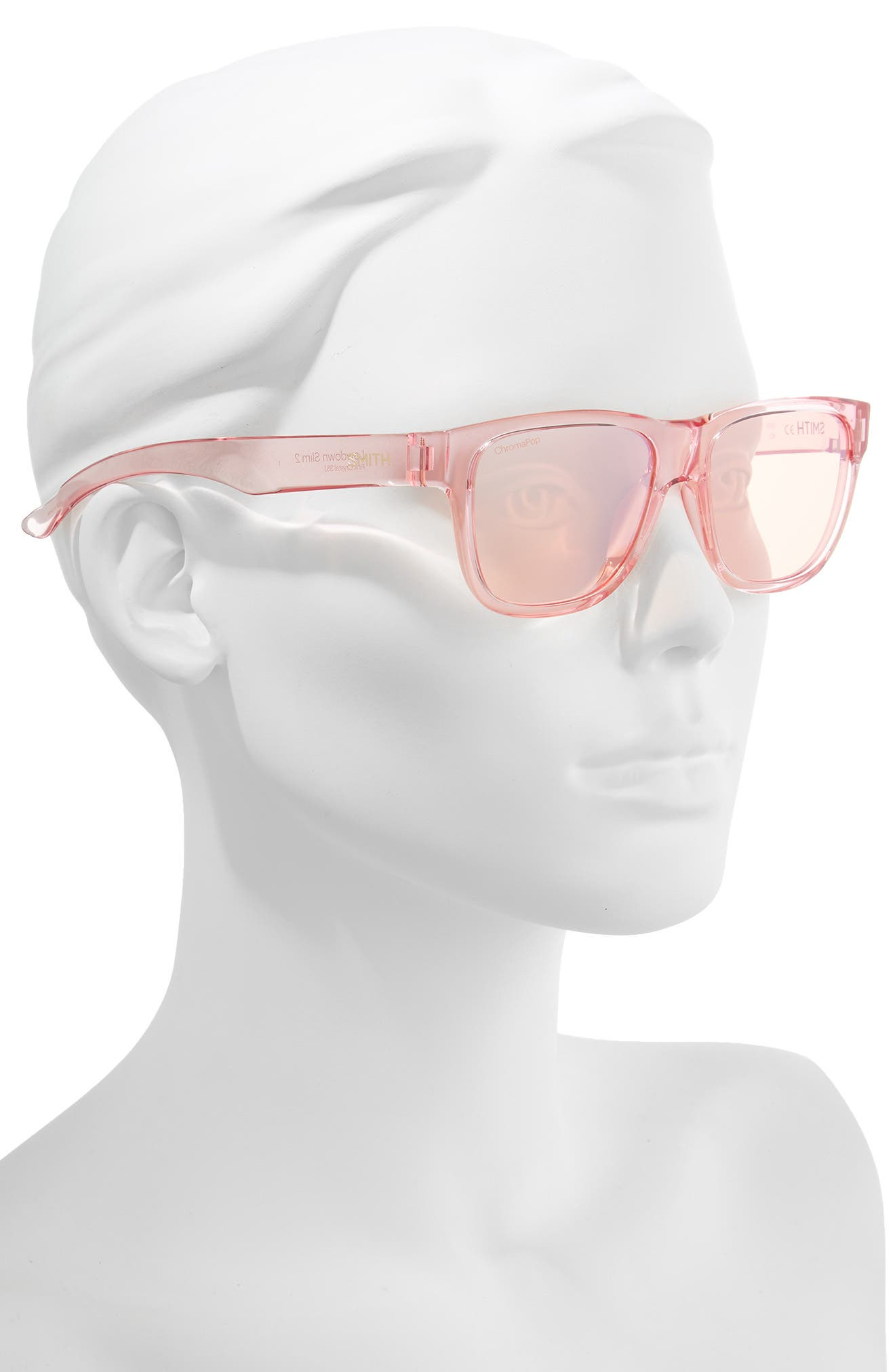 Lowdown Slim 2 53mm ChromaPop<sup>™</sup> Square Sunglasses,                             Alternate thumbnail 2, color,                             PINK CRYSTAL