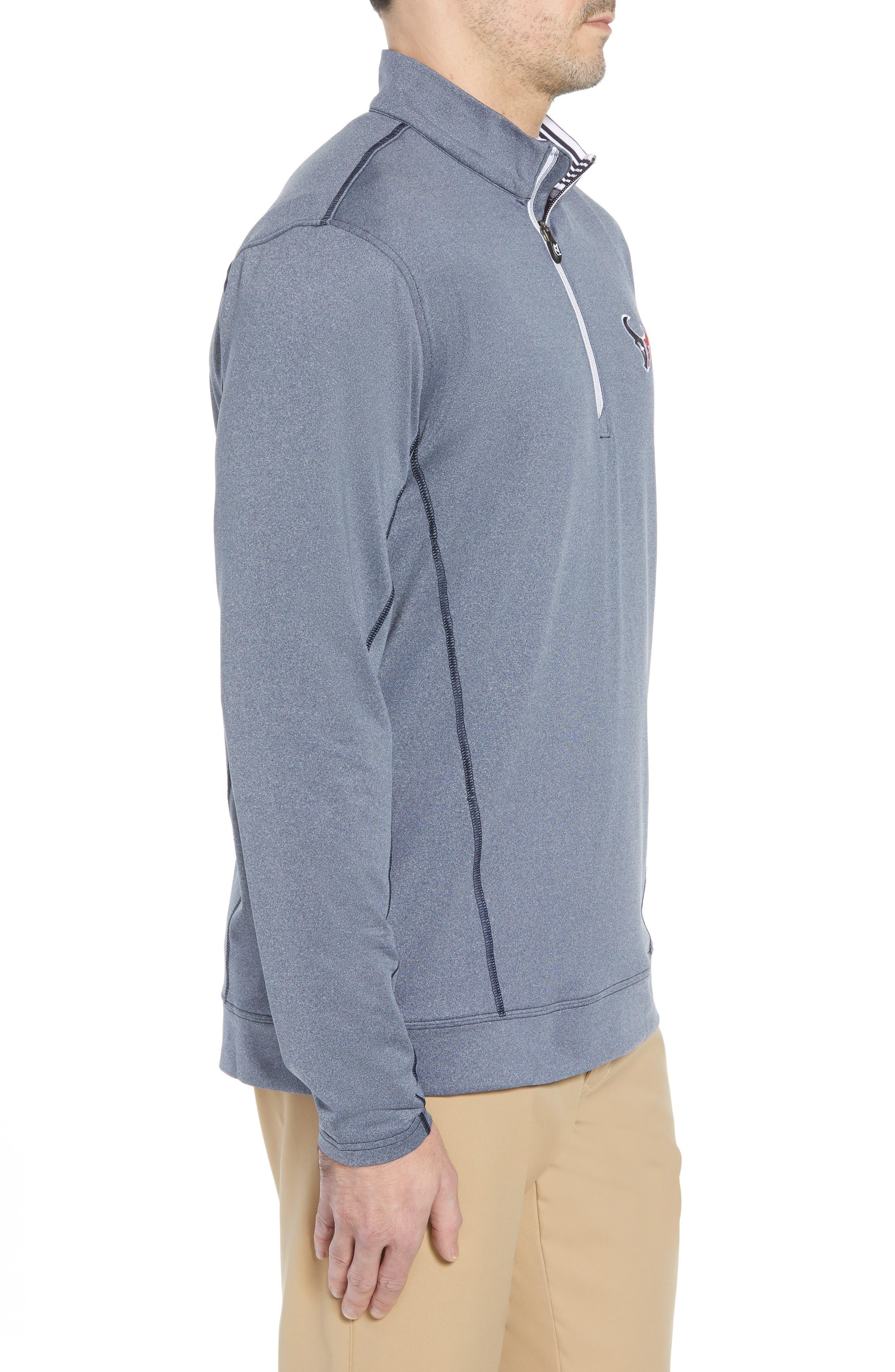 Endurance Houston Texans Regular Fit Pullover,                             Alternate thumbnail 3, color,                             LIBERTY NAVY HEATHER