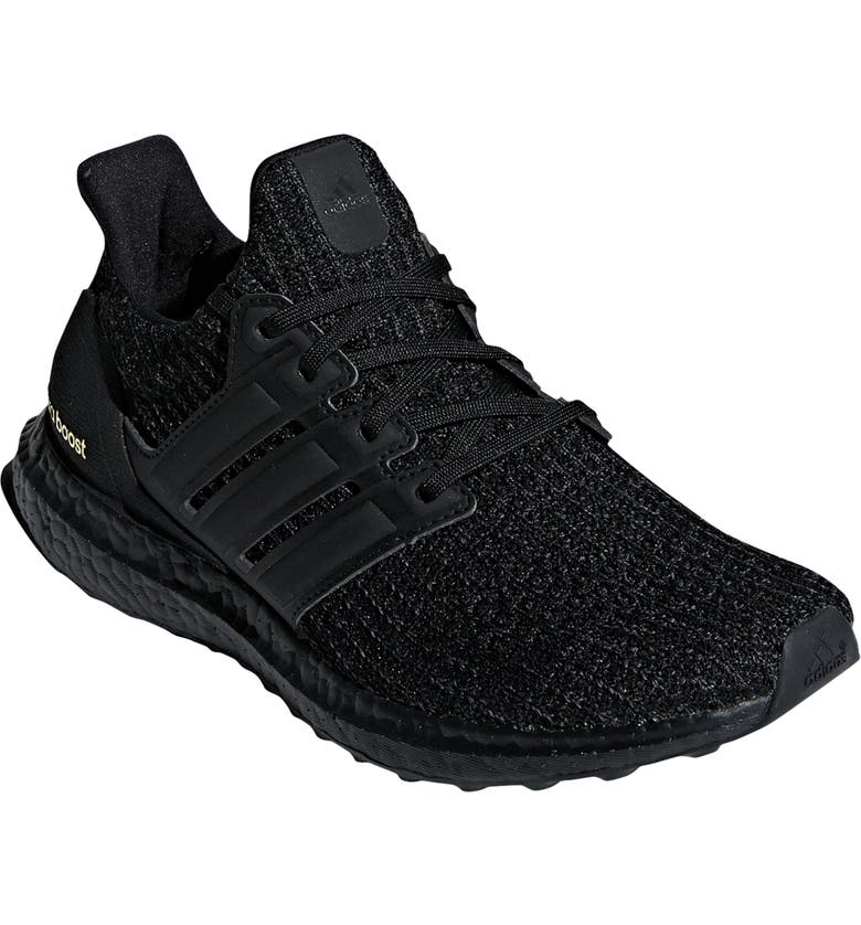 huge selection of 22494 ffc3c ADIDAS UltraBoost Running Shoe, Main, color, CORE BLACK GOLD METALLIC