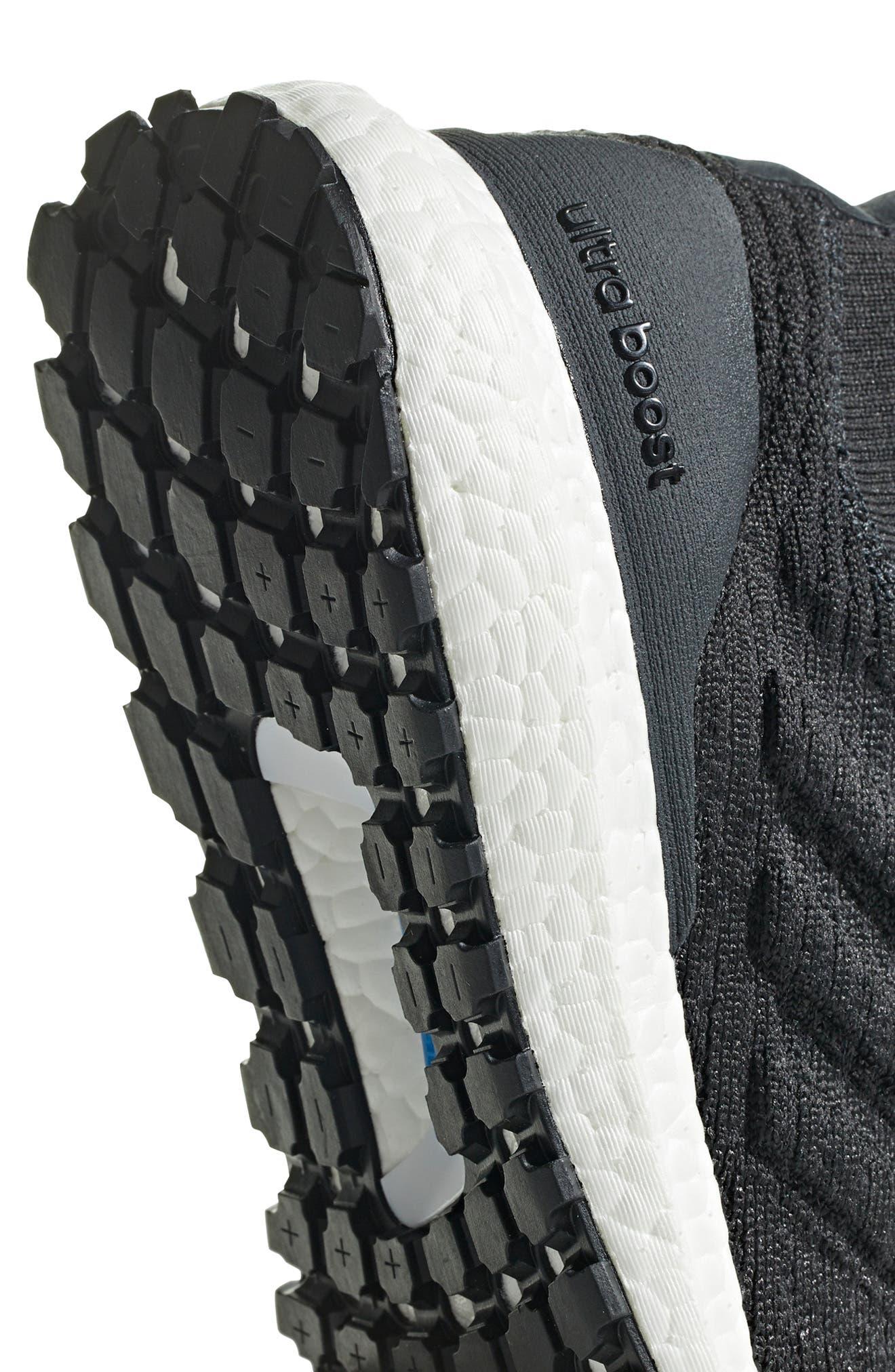 UltraBoost All Terrain Water Resistant Running Shoe,                             Alternate thumbnail 6, color,                             CARBON / CORE BLACK / WHITE