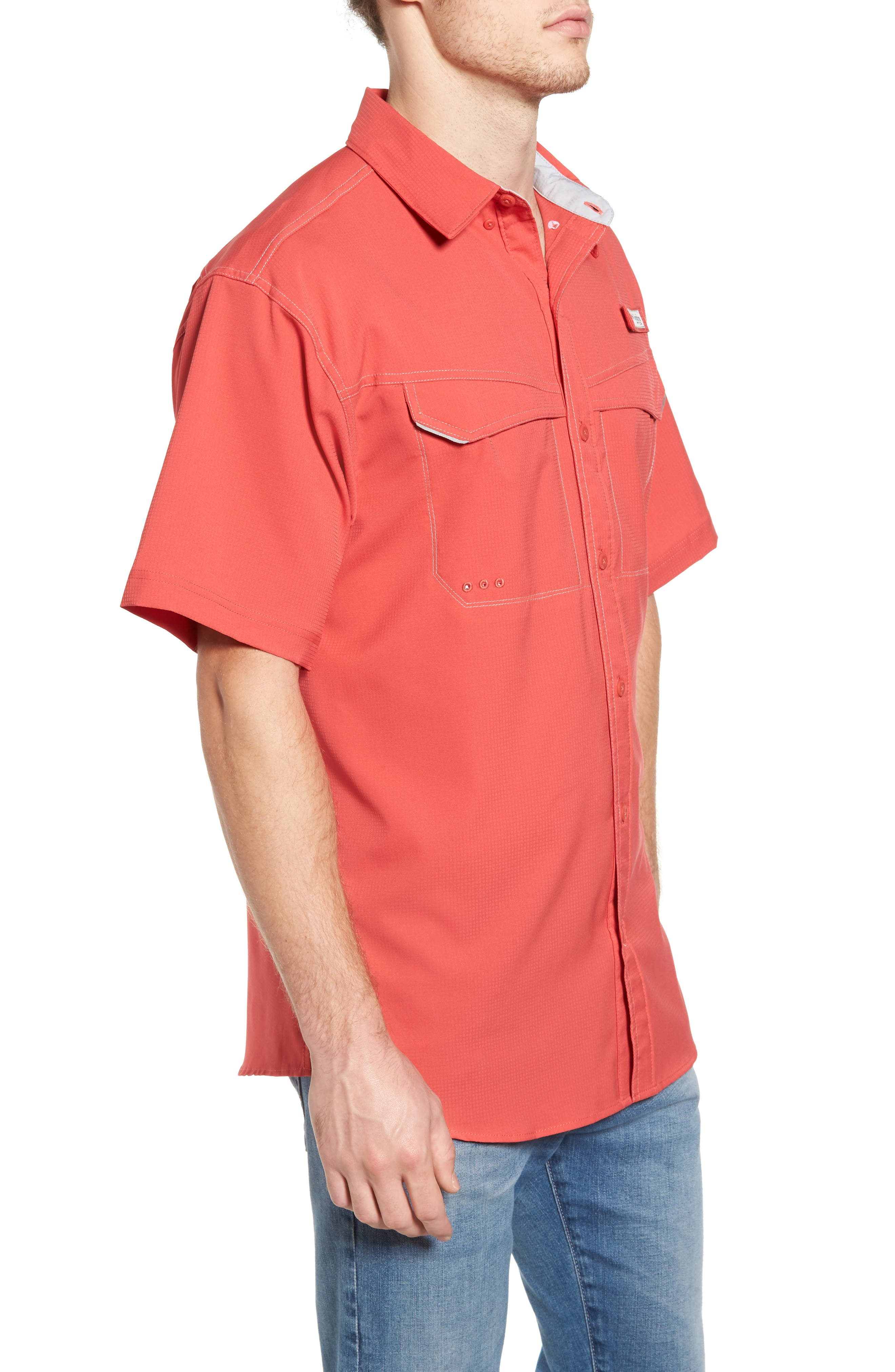 PFG Low Drag Offshore Woven Shirt,                             Alternate thumbnail 14, color,