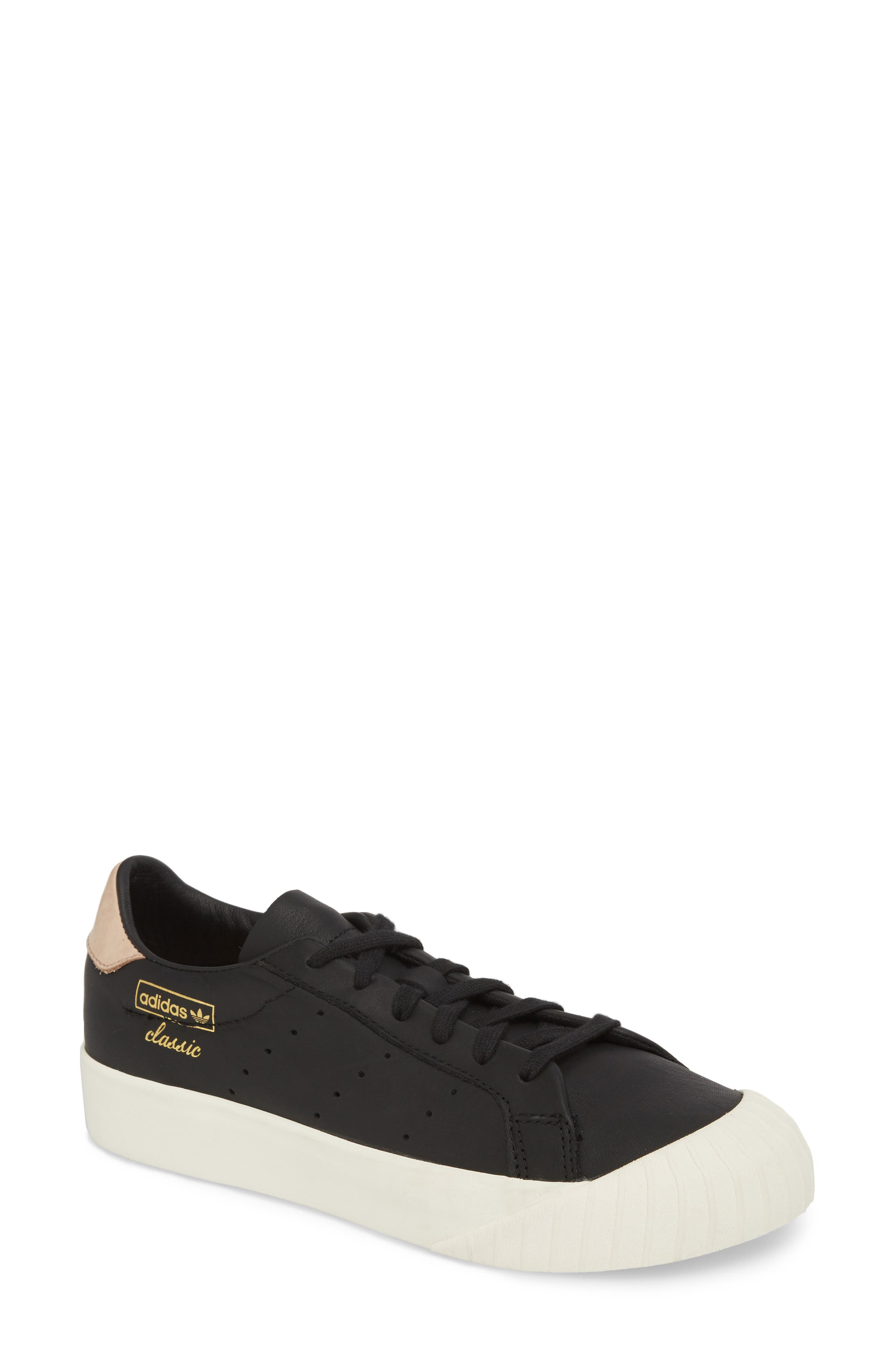 Everyn Perforated Low Top Sneaker,                             Main thumbnail 1, color,                             001