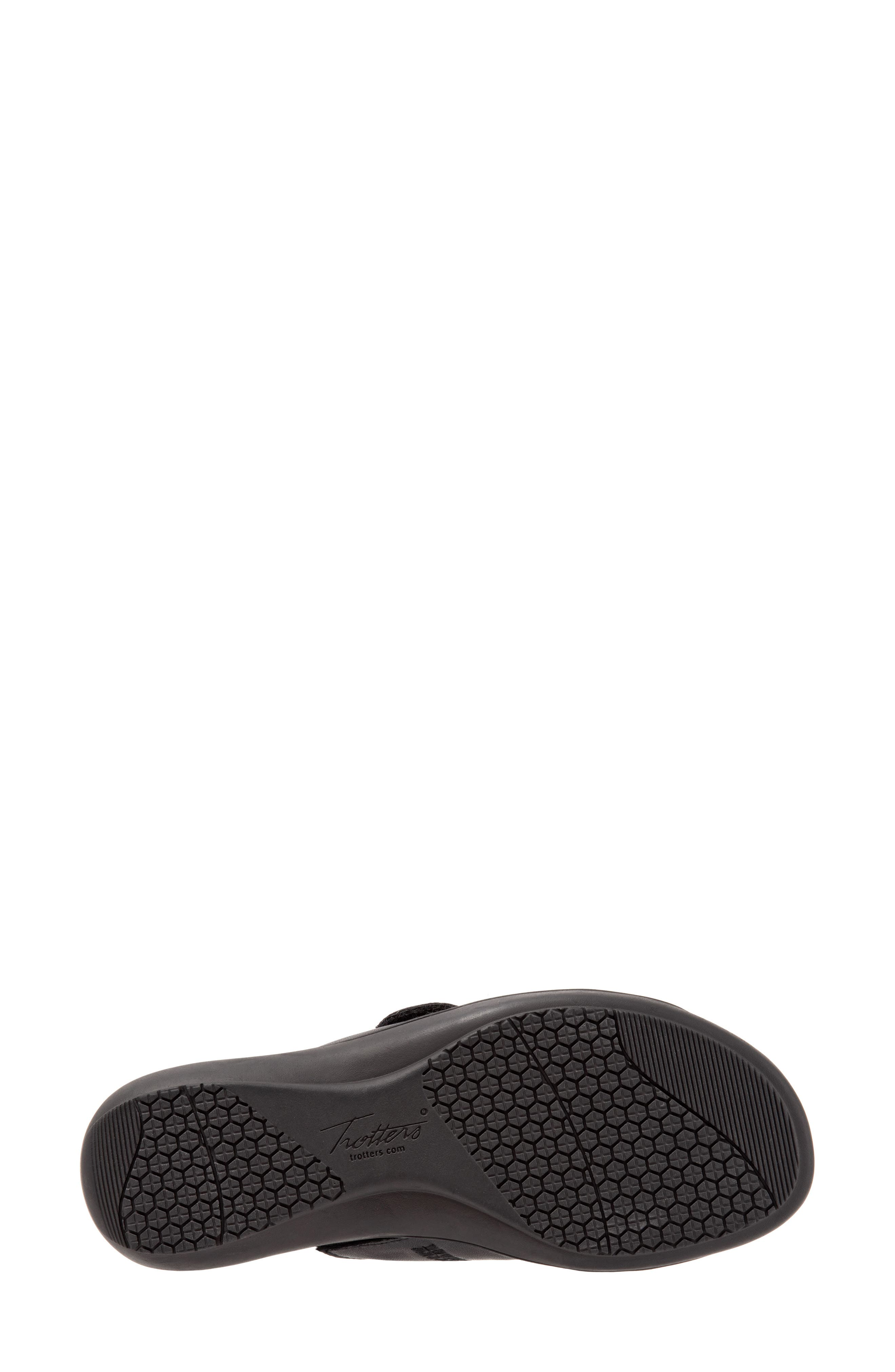 Vale Double Strap Slide Sandal,                             Alternate thumbnail 6, color,                             BLACK LEATHER
