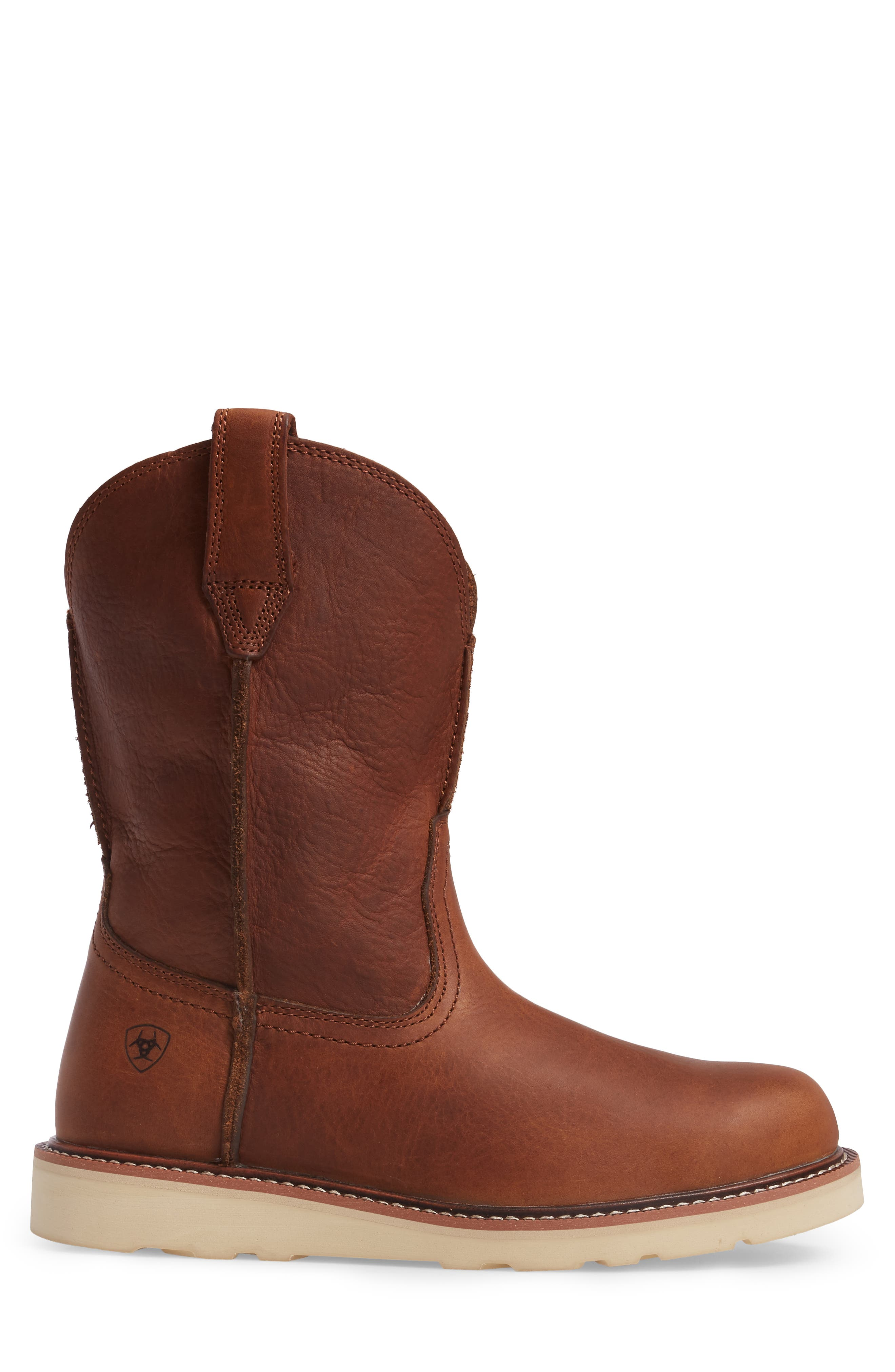 Rambler Boot,                             Alternate thumbnail 3, color,                             BROWN LEATHER