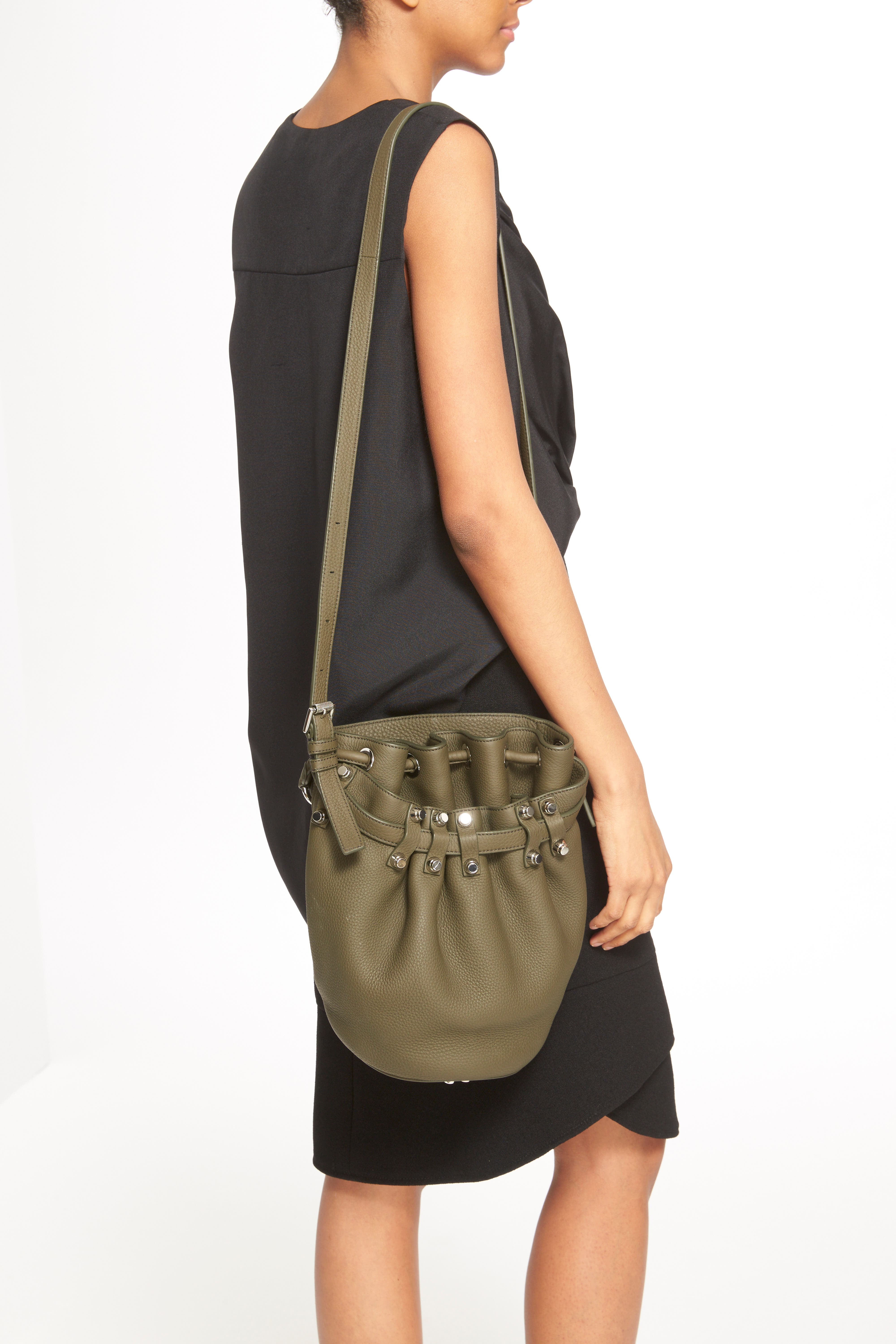 'Small Diego - Nickel' Leather Bucket Bag,                             Alternate thumbnail 5, color,                             342