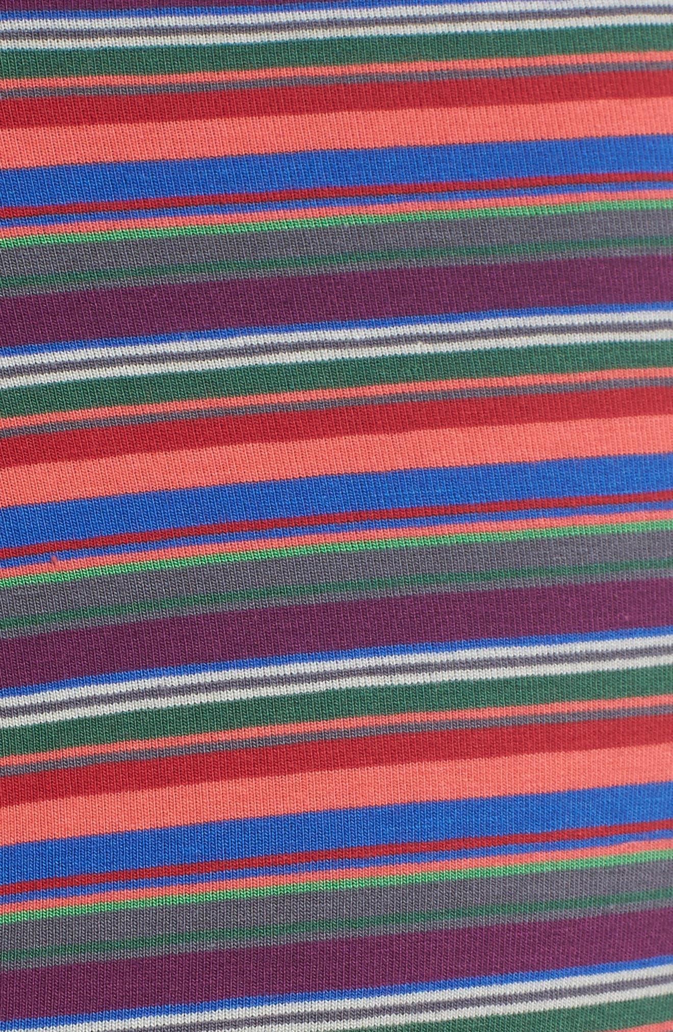 Long Leg Stretch Cotton Boxer Briefs,                             Alternate thumbnail 5, color,                             RED