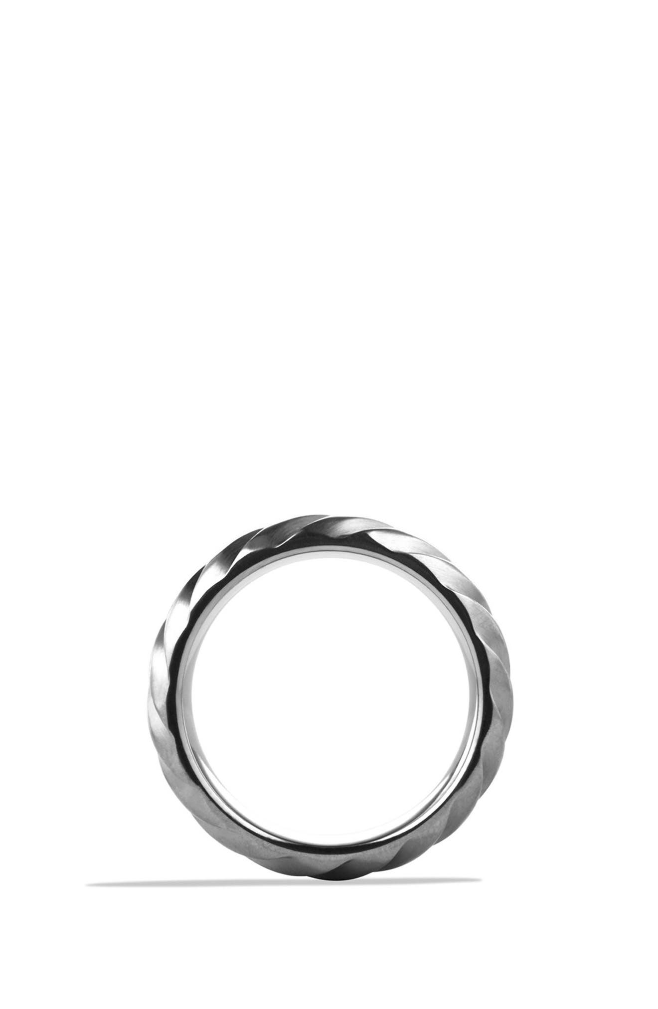 'Modern Cable' Wide Band Ring,                             Alternate thumbnail 2, color,                             TITANIUM