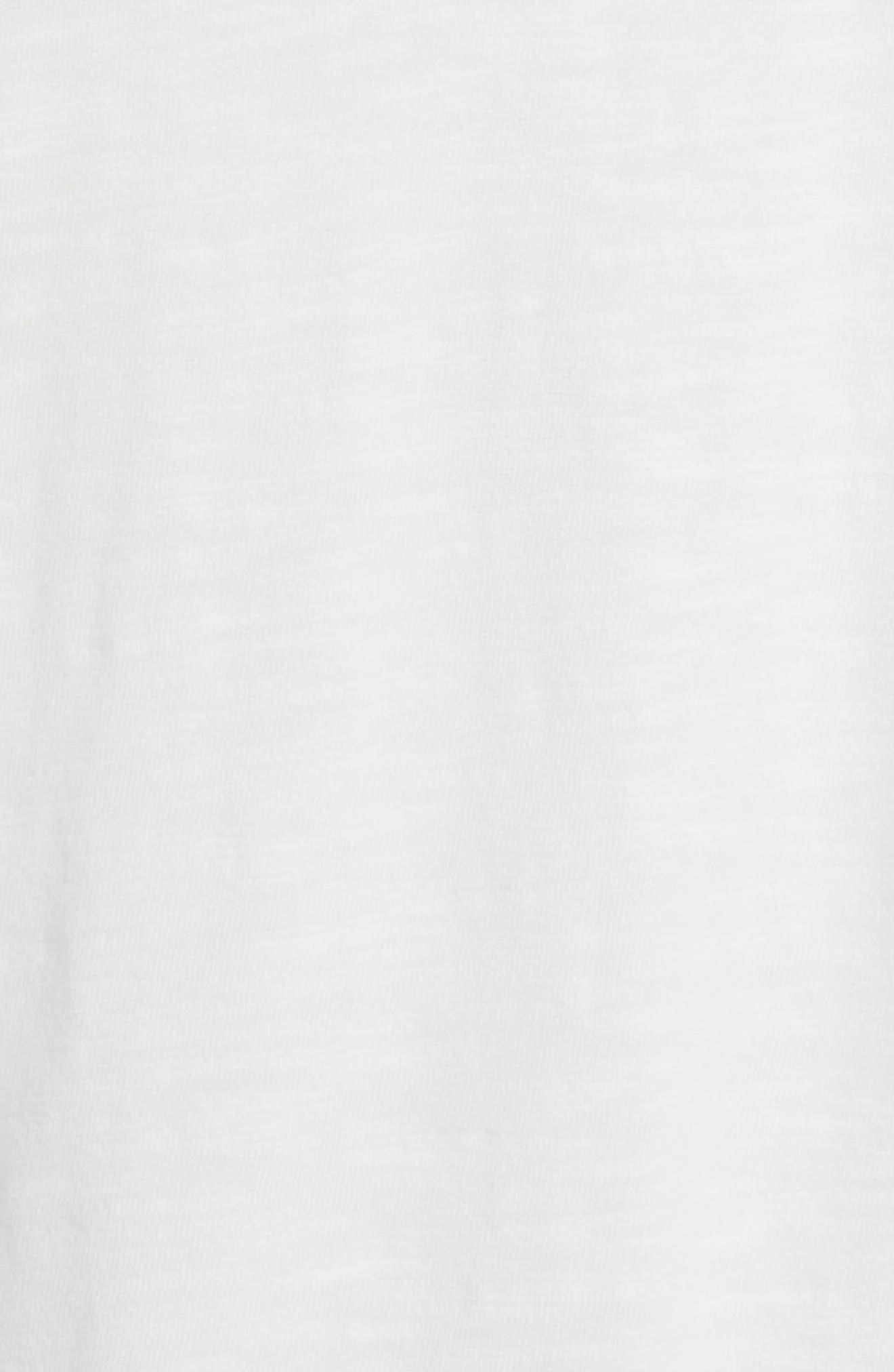 Slubbed Cotton Hooded Pullover,                             Alternate thumbnail 6, color,                             WHITE
