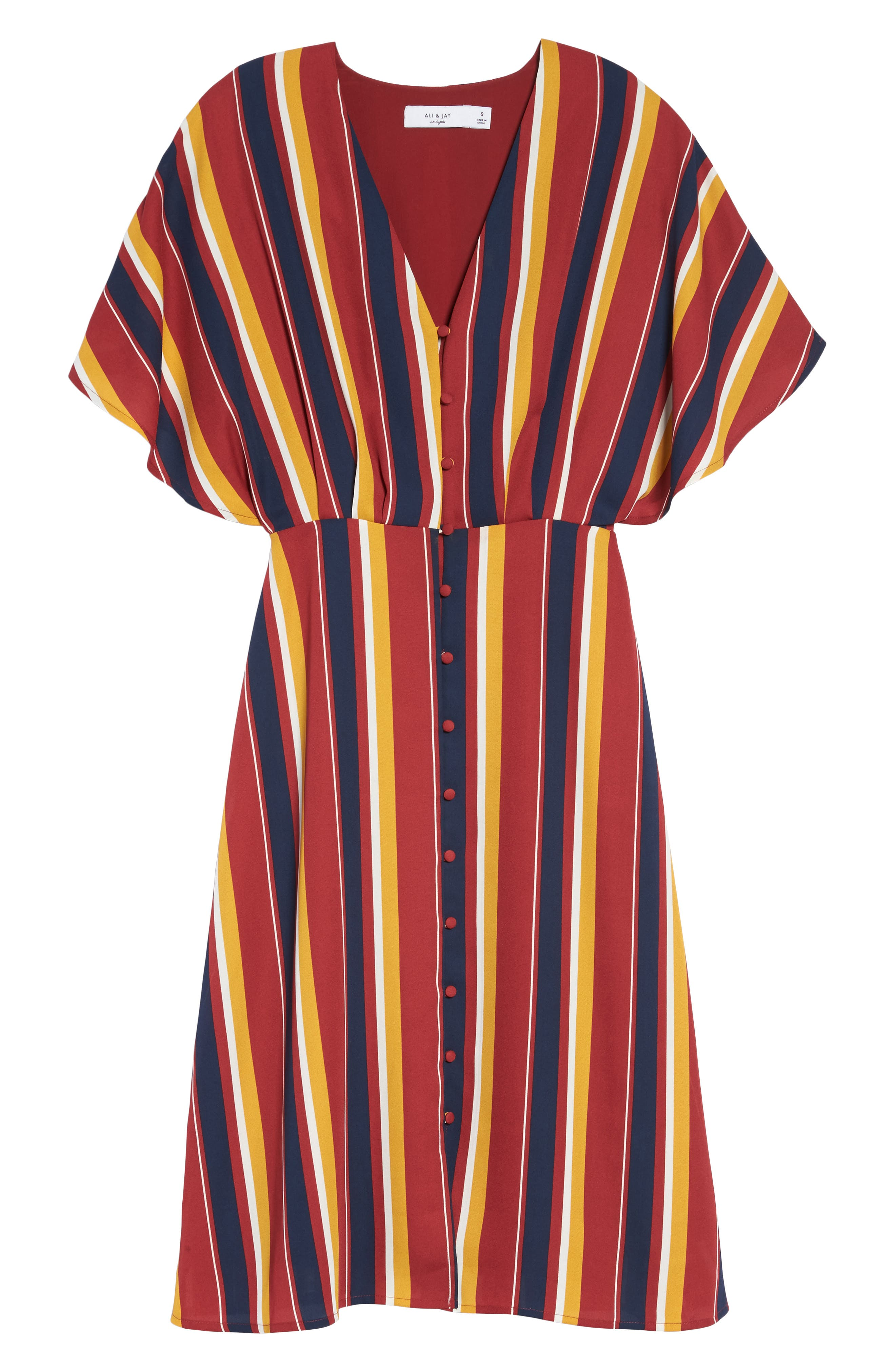 Dreamer Stripe Dress,                             Alternate thumbnail 6, color,                             646