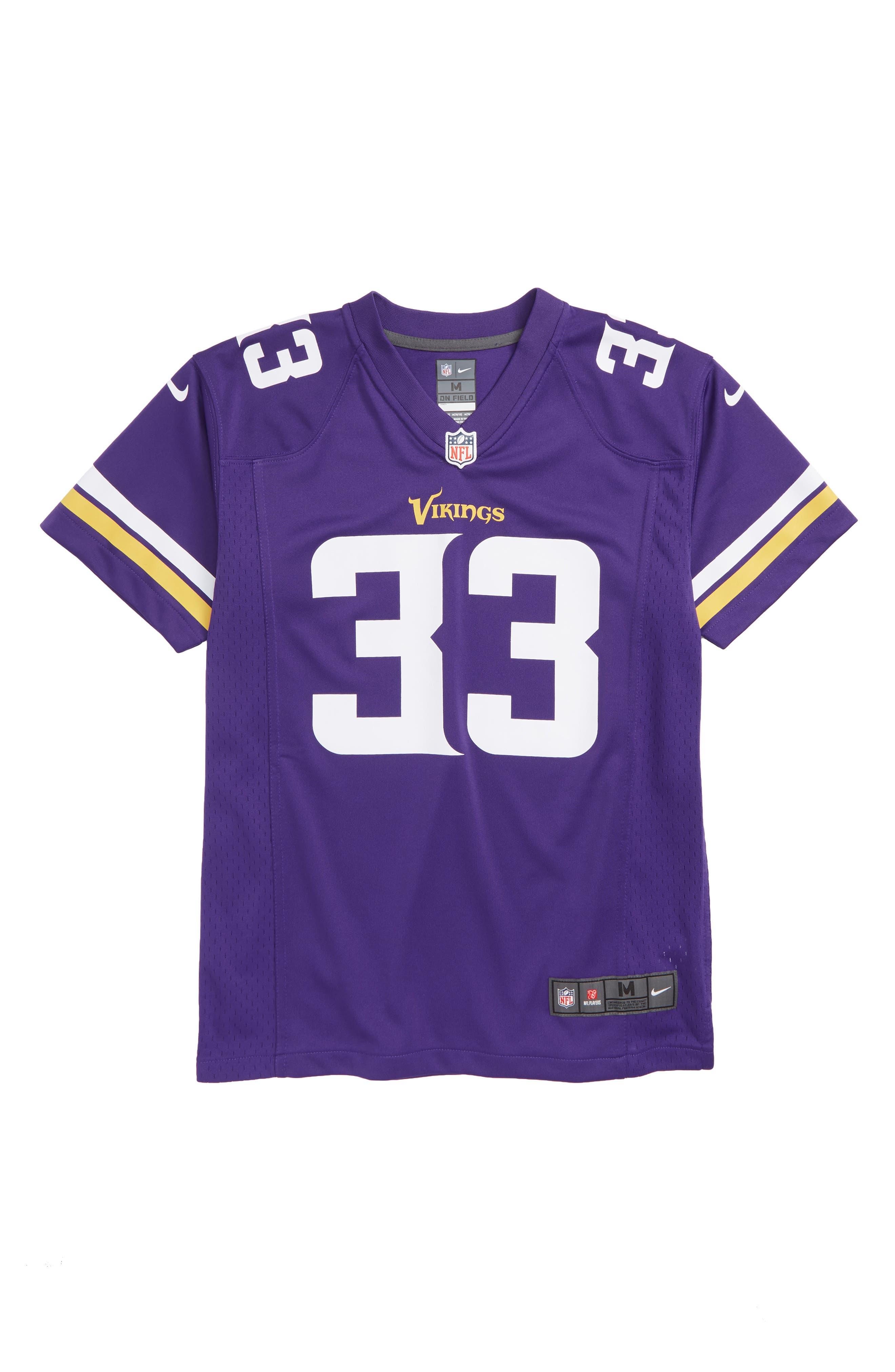 NFL Minnesota Vikings Dalvin Cook Jersey,                             Main thumbnail 1, color,                             PURPLE