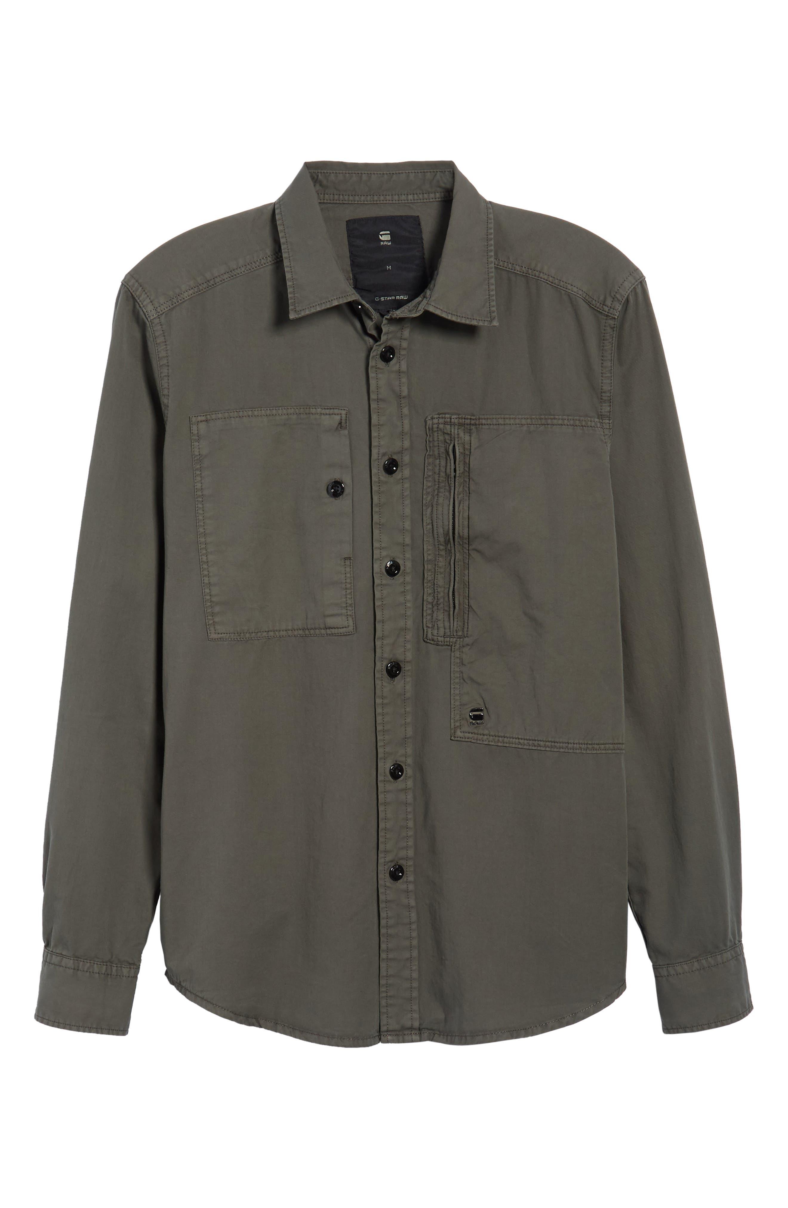 Powel Zip Pocket Shirt,                             Alternate thumbnail 6, color,                             020