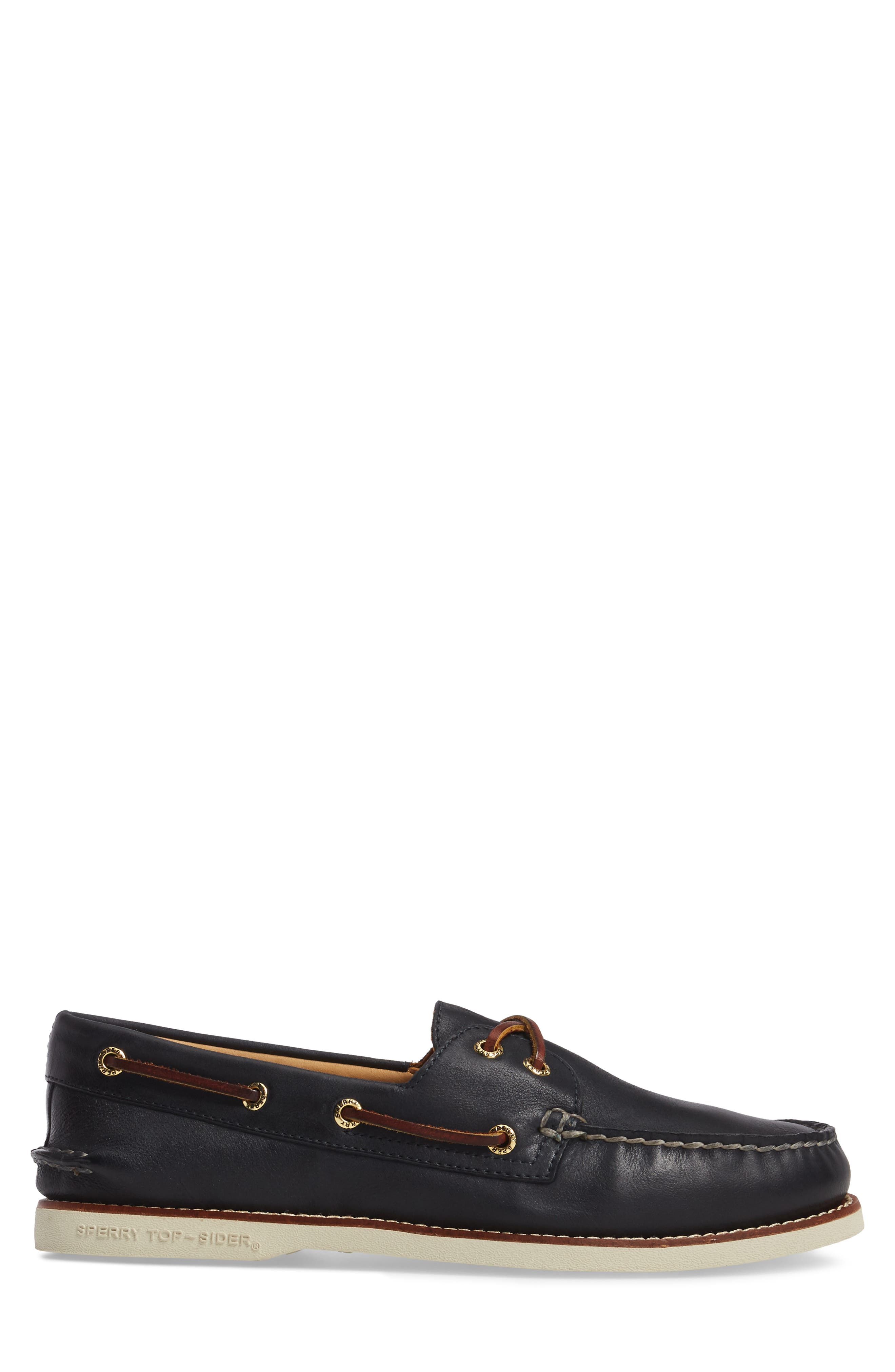 'Gold Cup - Authentic Original' Boat Shoe,                             Alternate thumbnail 3, color,                             NAVY LEATHER