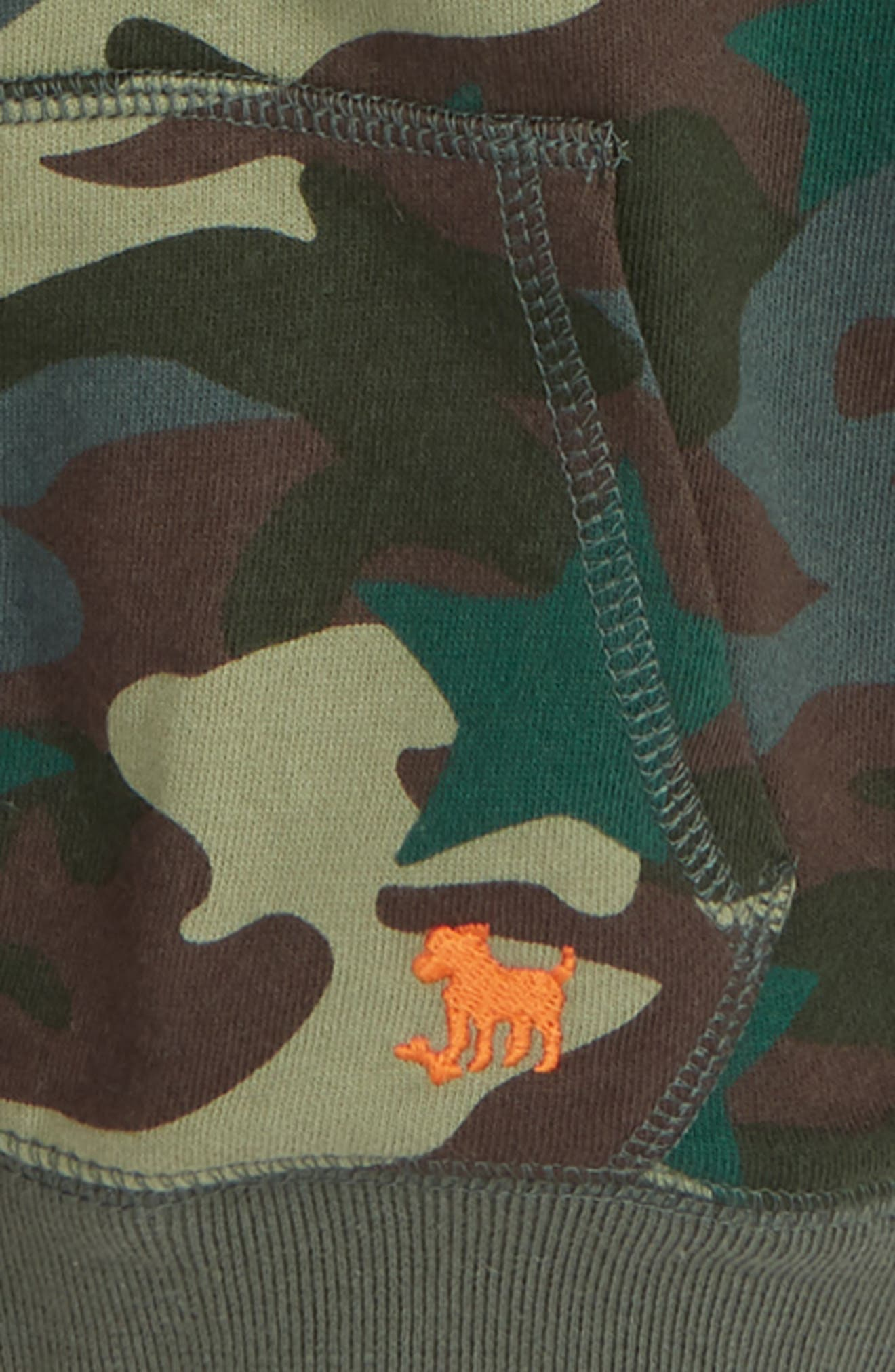 Shaggy Camo Zip Hoodie,                             Alternate thumbnail 2, color,                             301