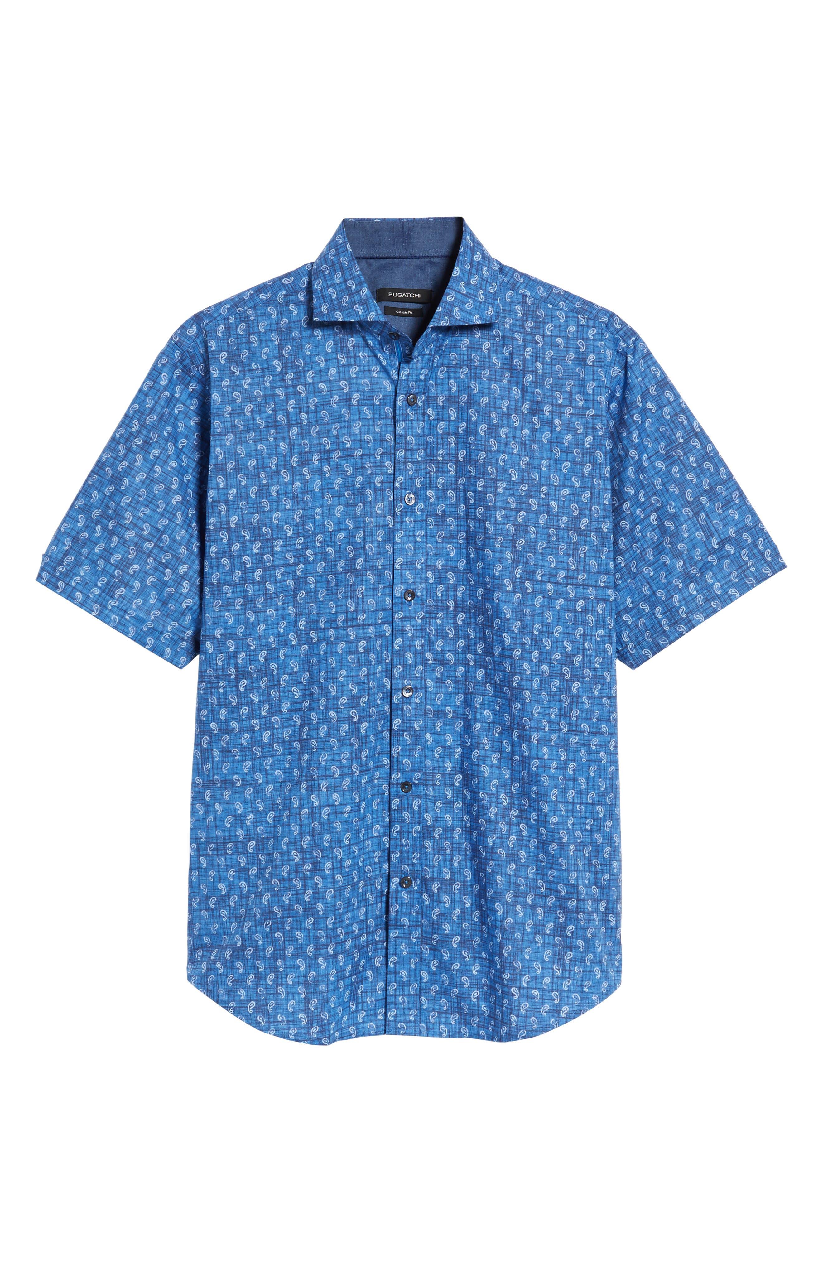 Classic Fit Paisley Sport Shirt,                             Alternate thumbnail 6, color,                             419