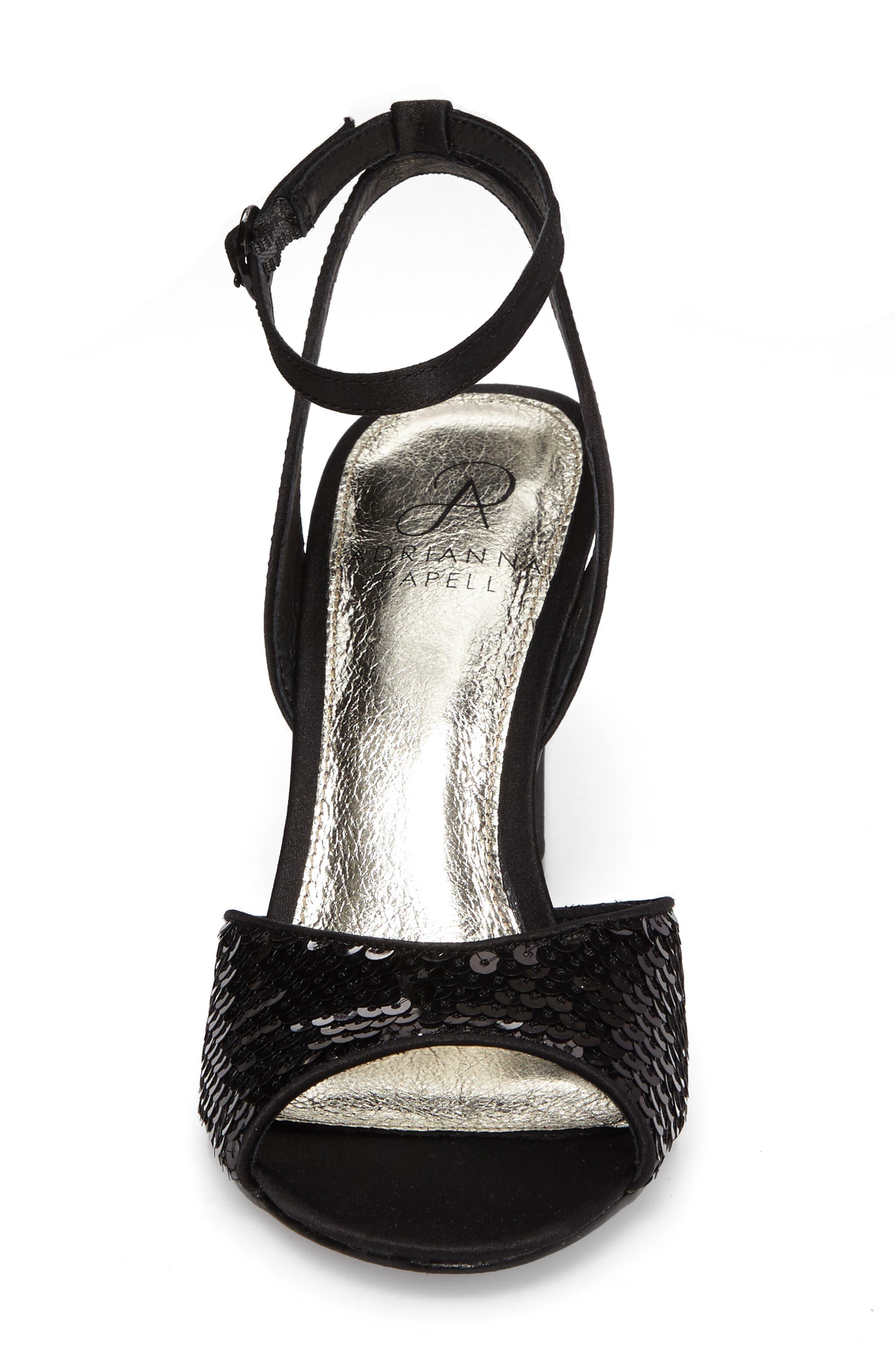 Astrid Ankle Strap Sandal,                             Alternate thumbnail 4, color,                             001