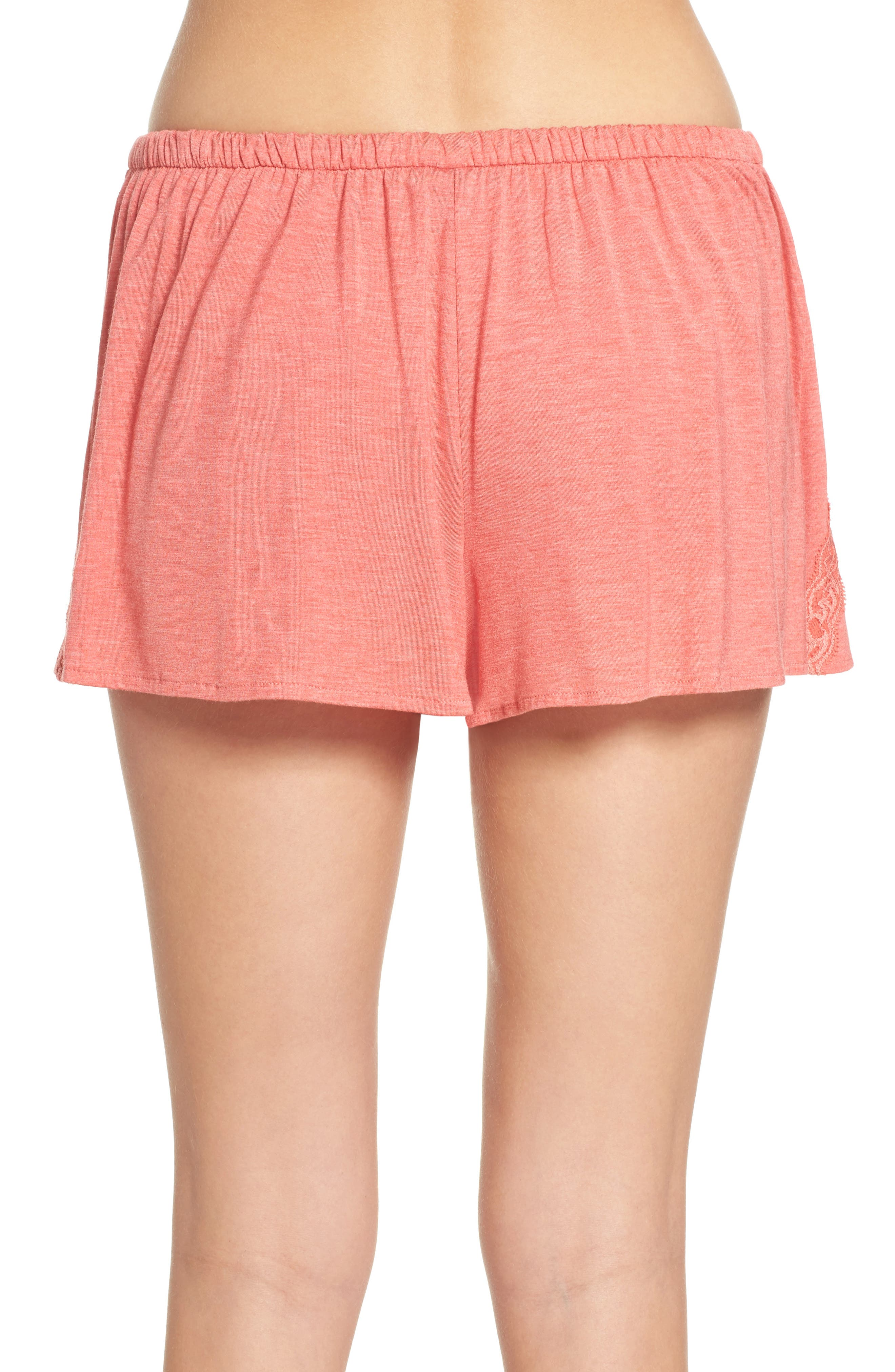 Feathers Essential Pajama Shorts,                             Alternate thumbnail 4, color,