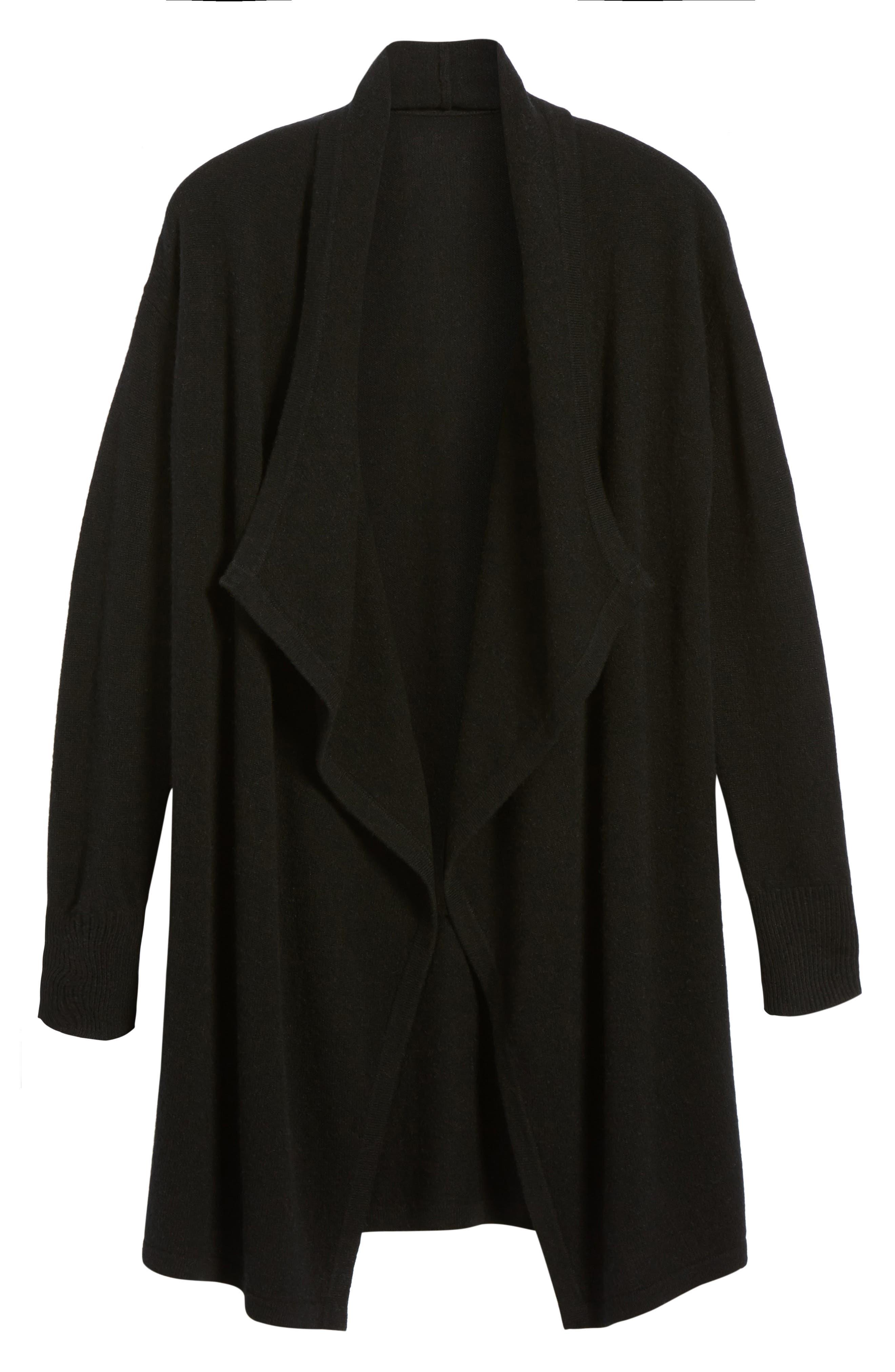 Cashmere Long Drape Front Cardigan,                             Alternate thumbnail 44, color,