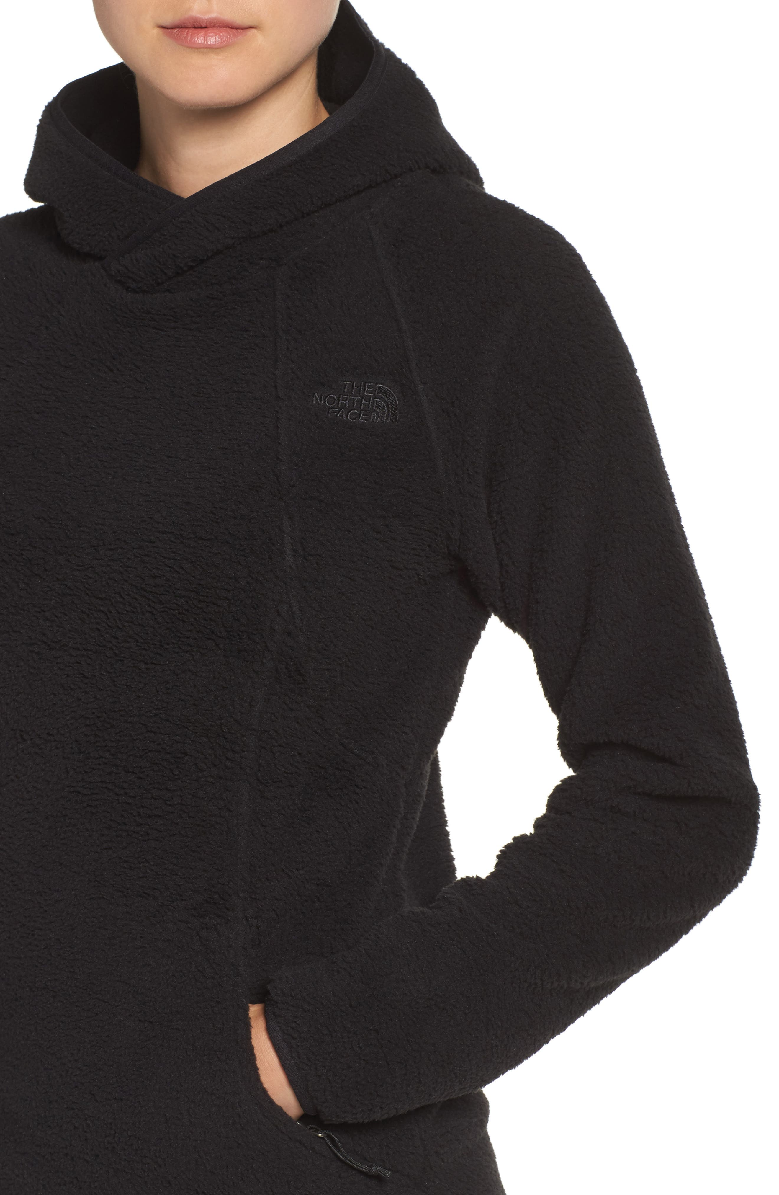 Hooded Fleece Pullover,                             Alternate thumbnail 4, color,                             001