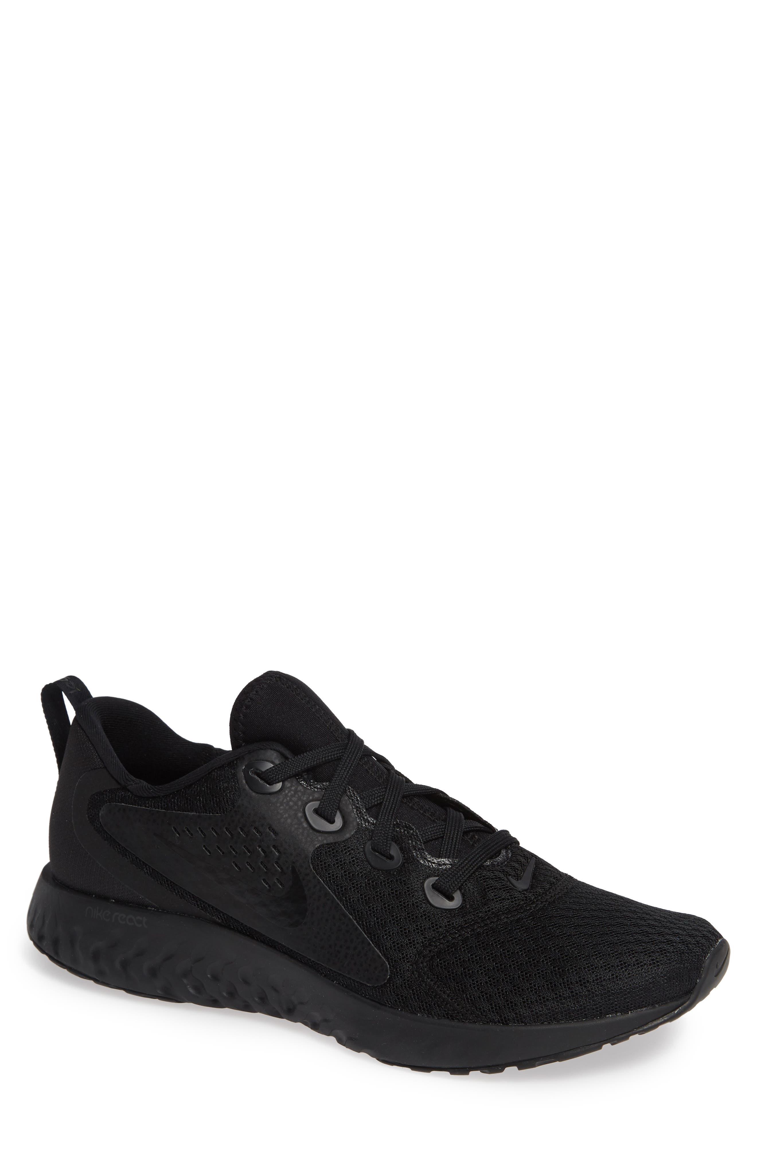 Rebel React Sneaker,                             Main thumbnail 1, color,                             BLACK/ BLACK