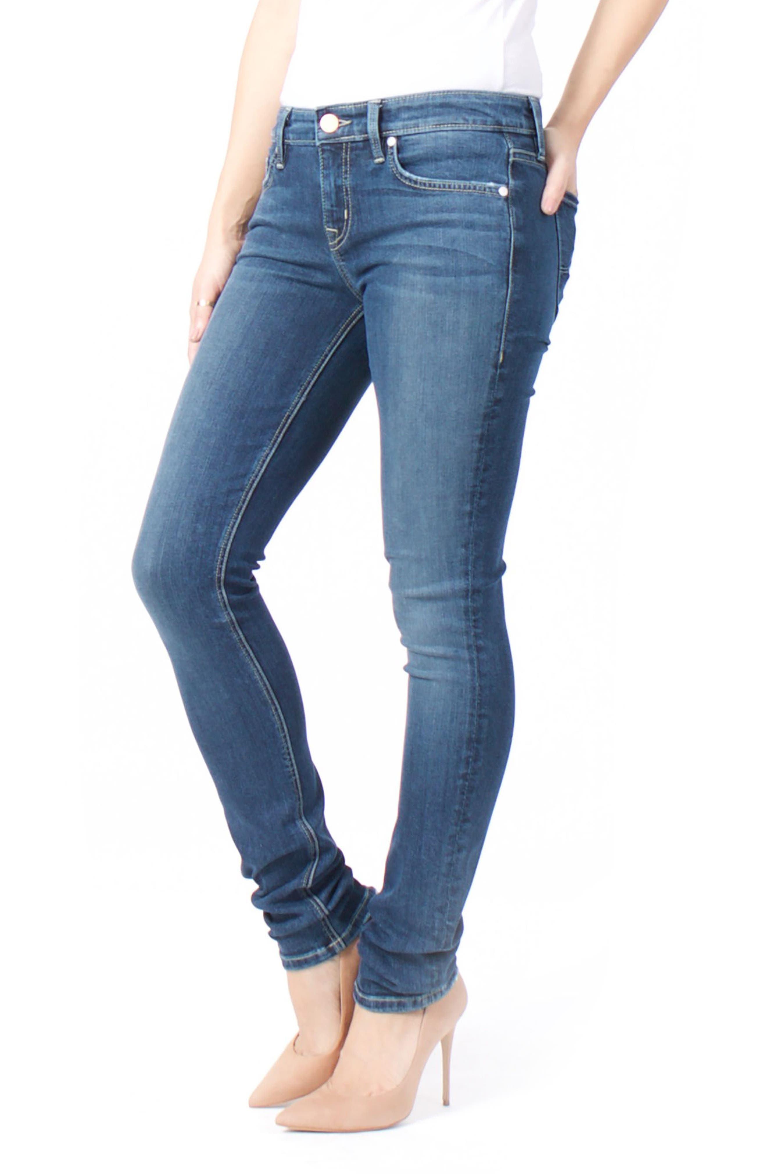Lily Stretch Skinny Jeans,                             Alternate thumbnail 14, color,