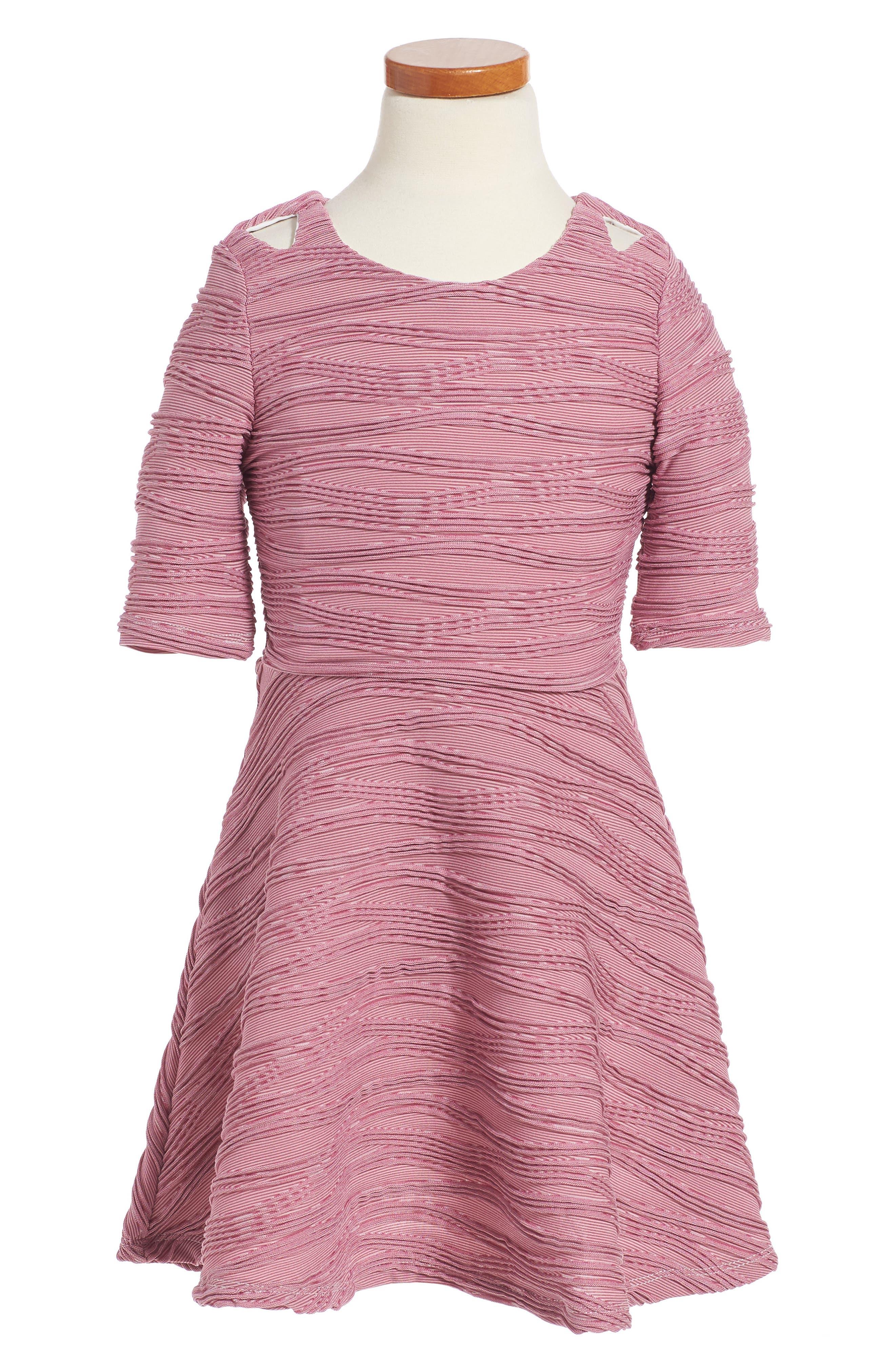 Pleated Skater Dress,                             Main thumbnail 1, color,
