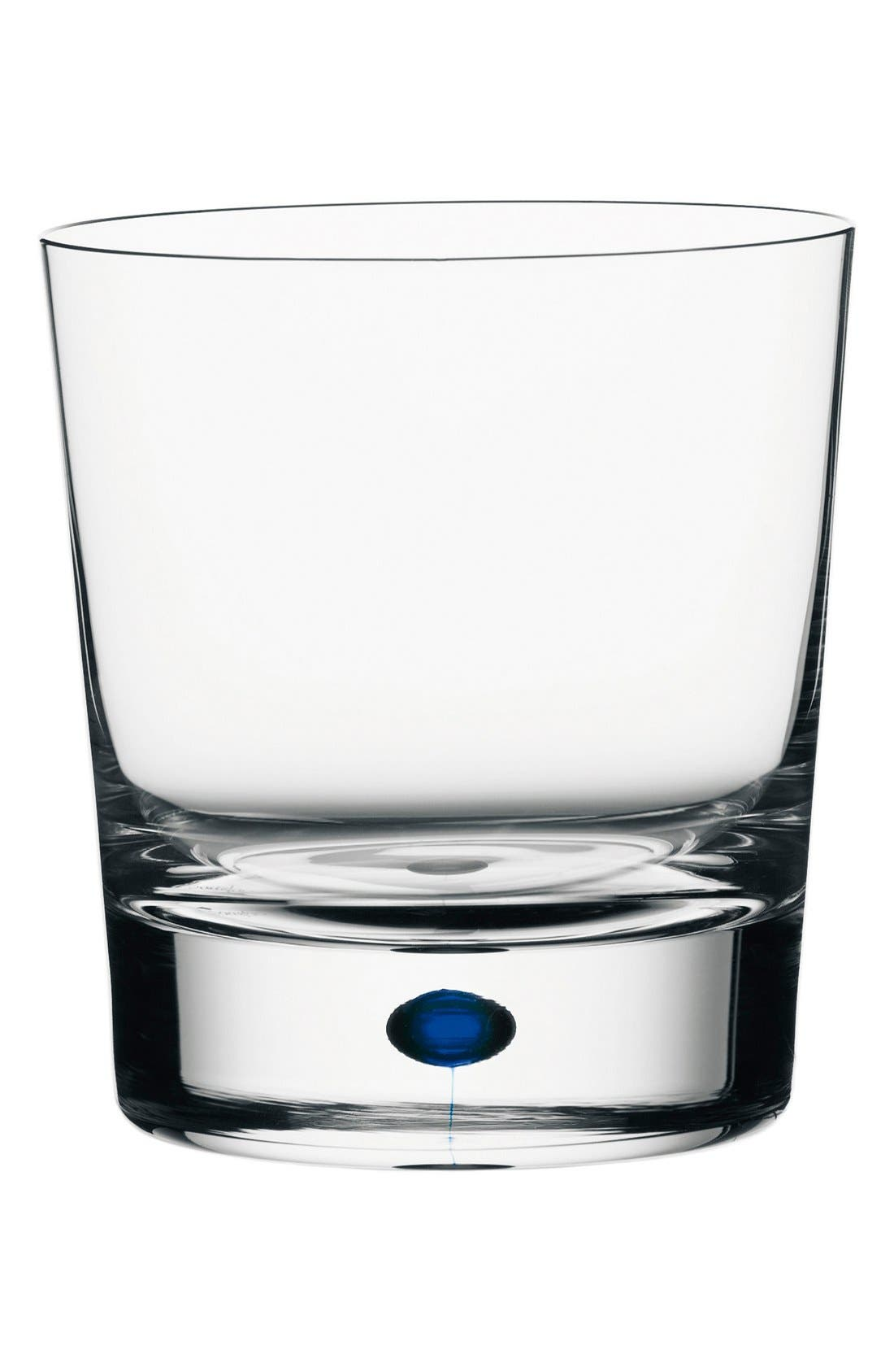 'Intermezzo' Old-Fashioned Glass,                             Alternate thumbnail 2, color,                             CLEAR/ BLUE
