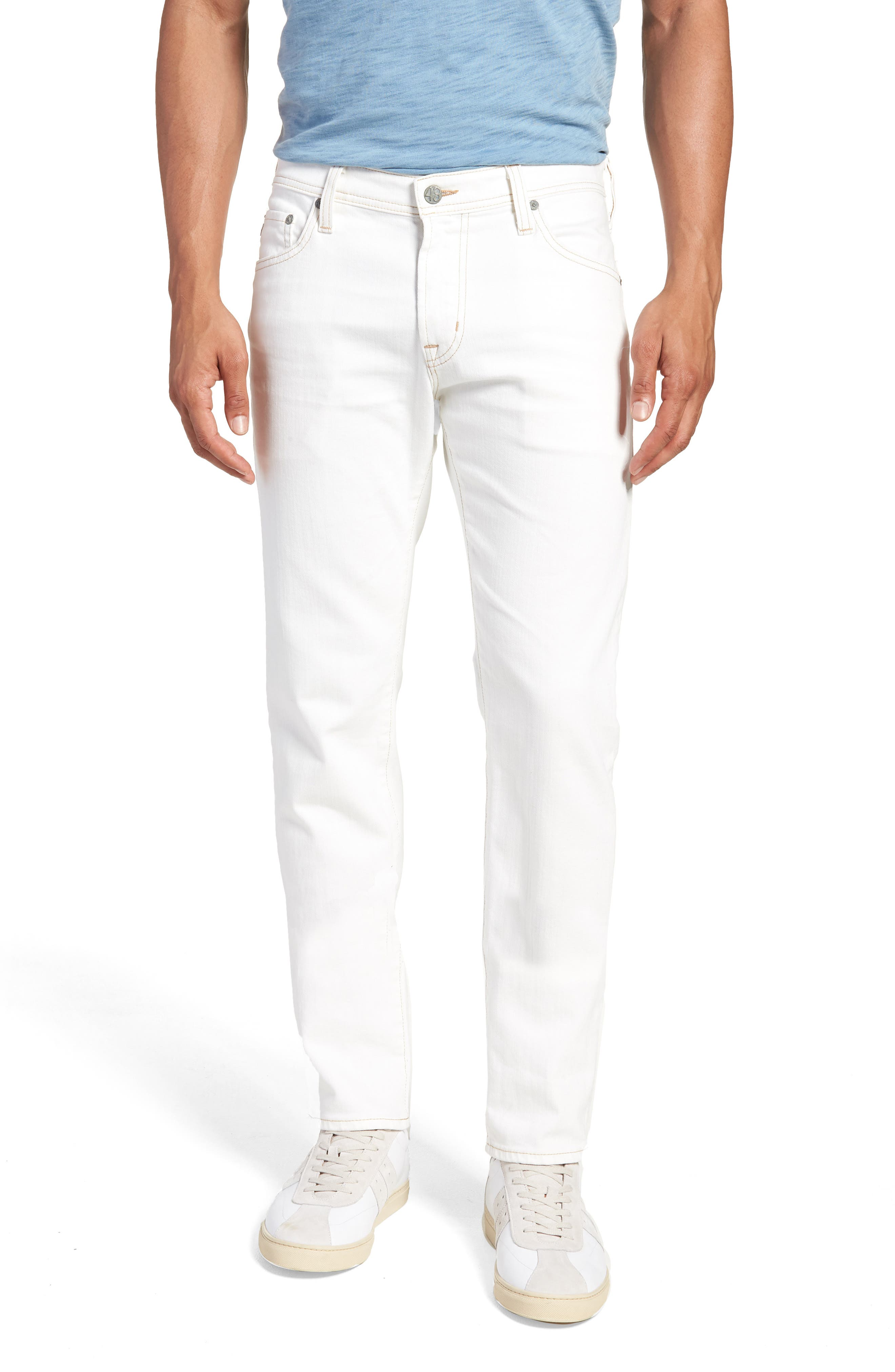 Tellis Slim Fit Jeans,                         Main,                         color, 1 YEAR NEUTRAL WHITE