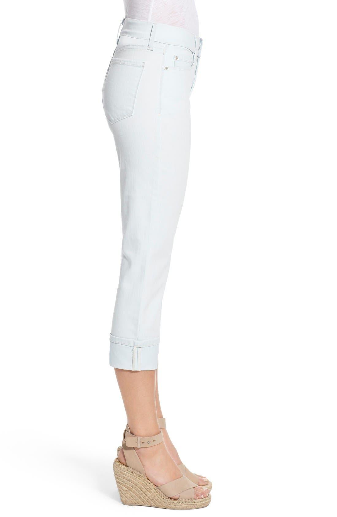 'Dayla' Colored Wide Cuff Capri Jeans,                             Alternate thumbnail 27, color,