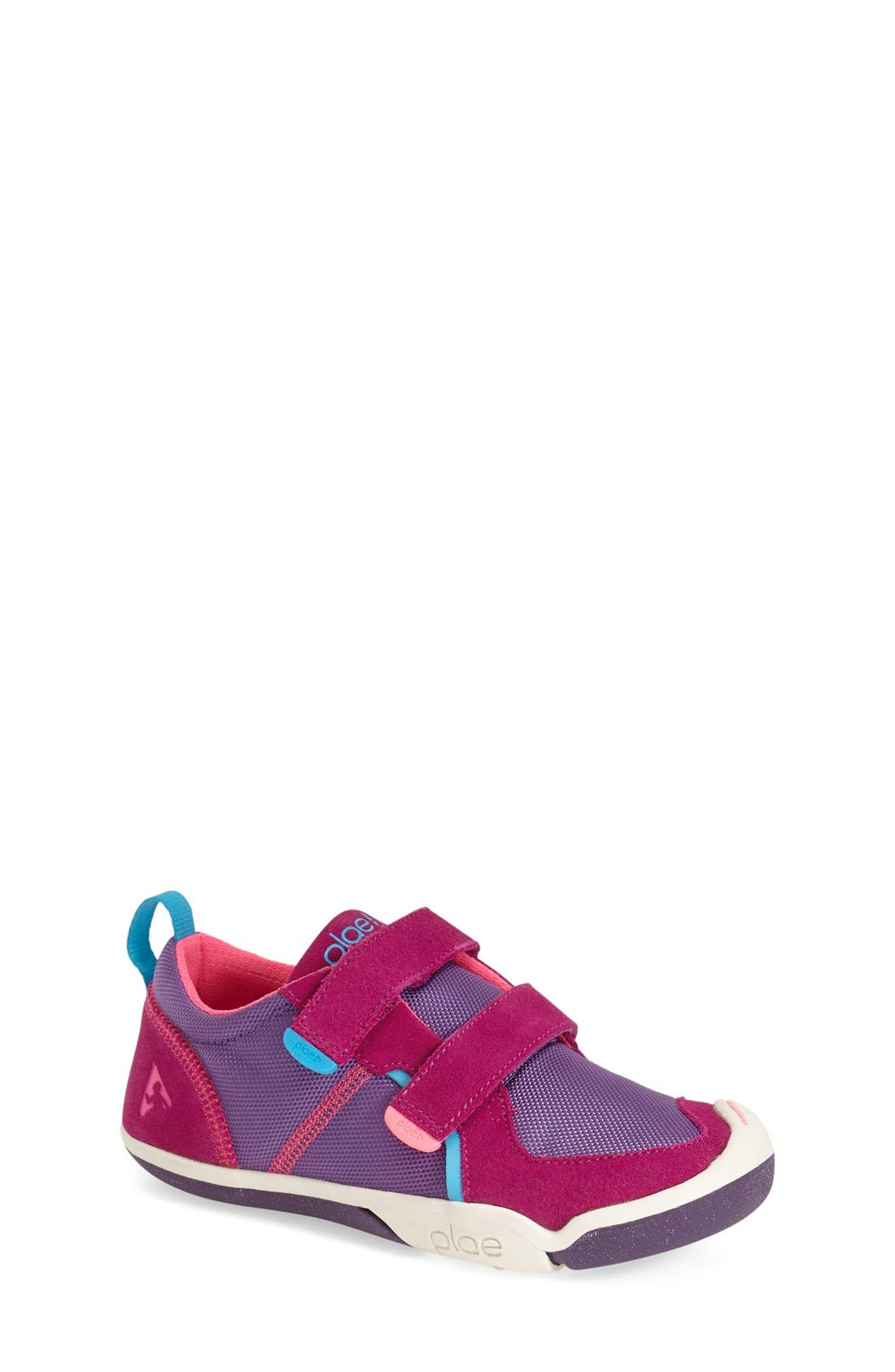 'Ty' Customizable Sneaker,                             Main thumbnail 1, color,                             FUCHSIA/ PURPLE